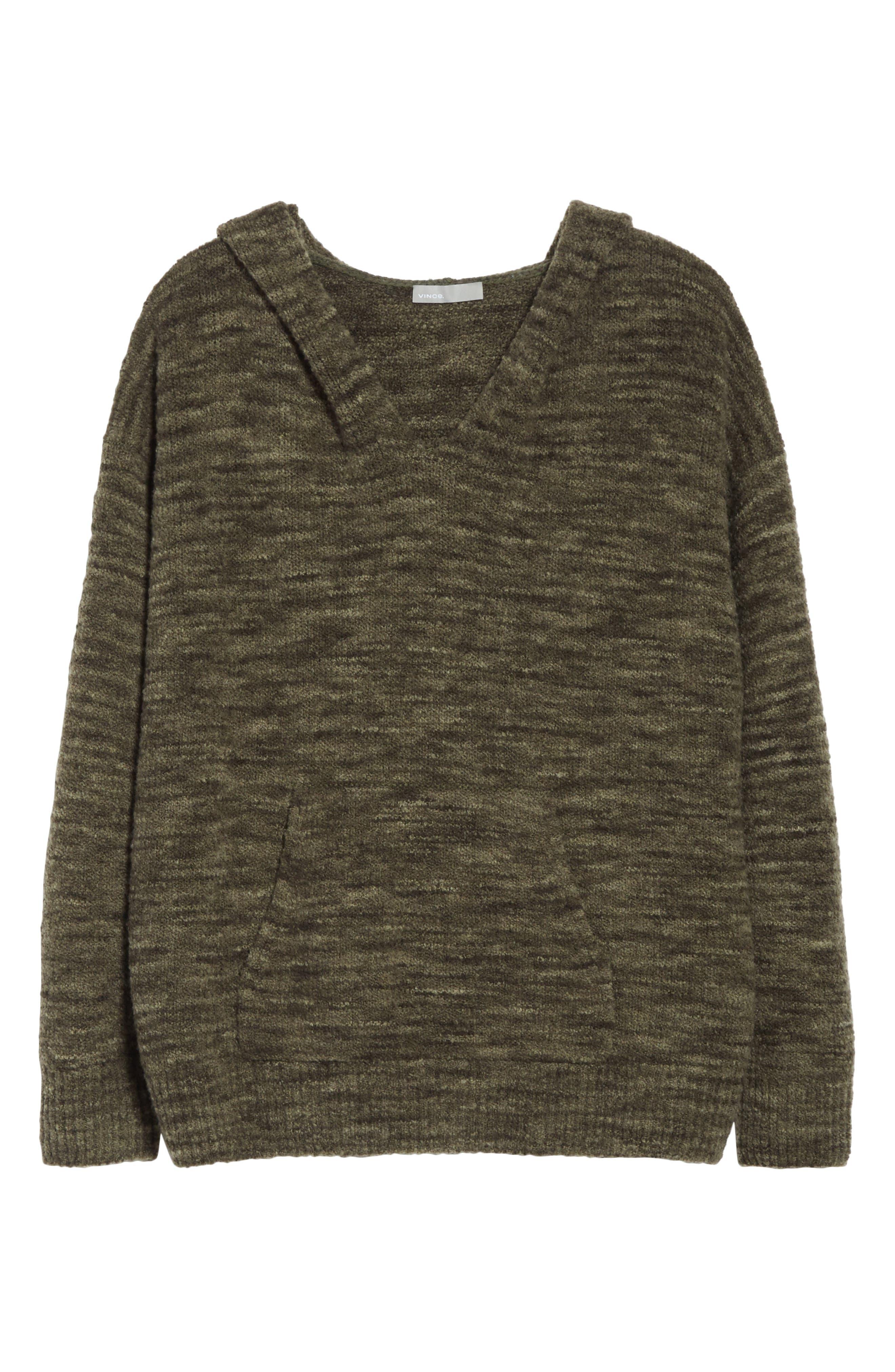 Space Dye Hoodie Sweater,                             Alternate thumbnail 6, color,                             343