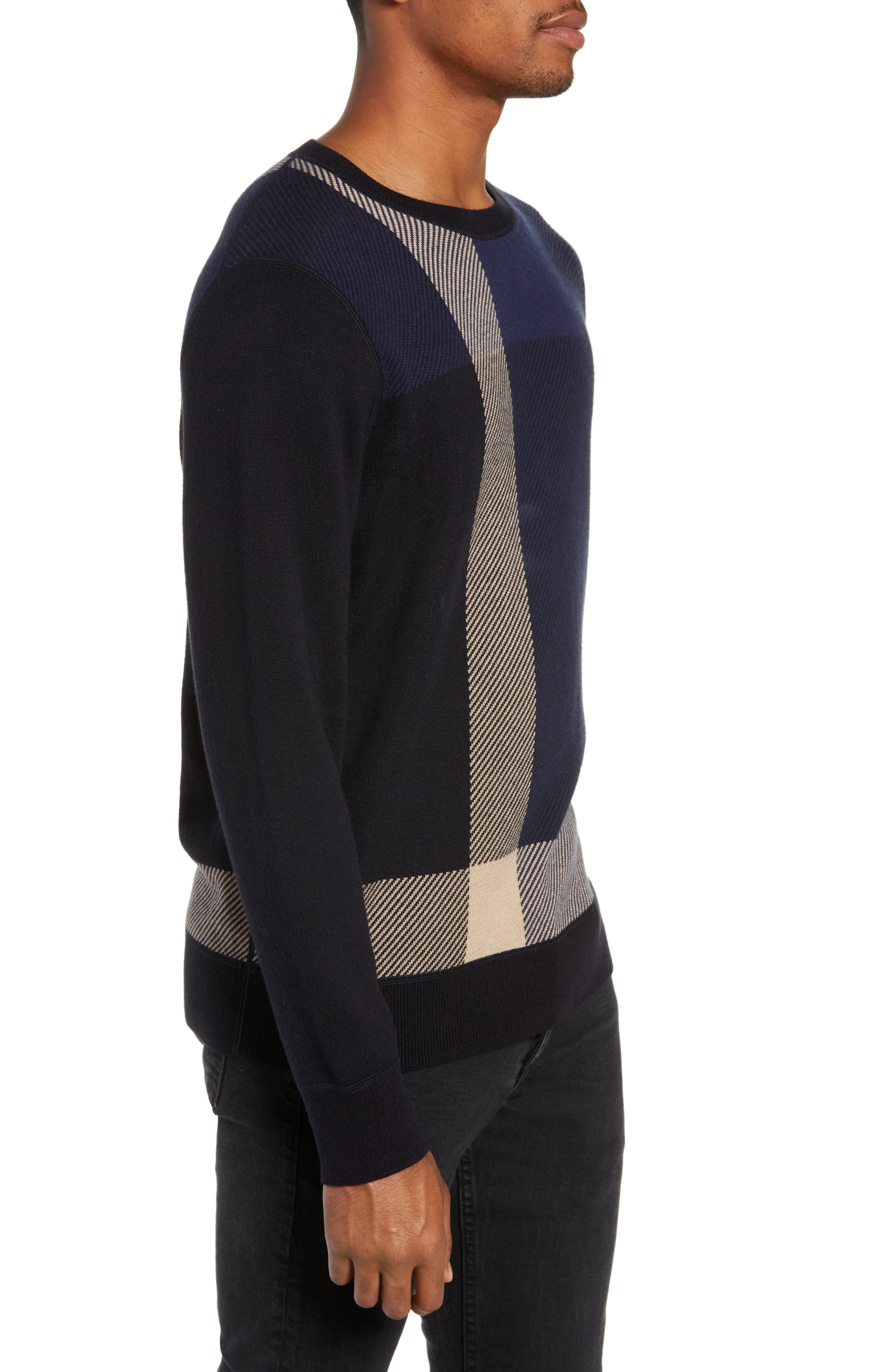 Marshall Crewneck Sweater,                             Alternate thumbnail 3, color,                             NAVY