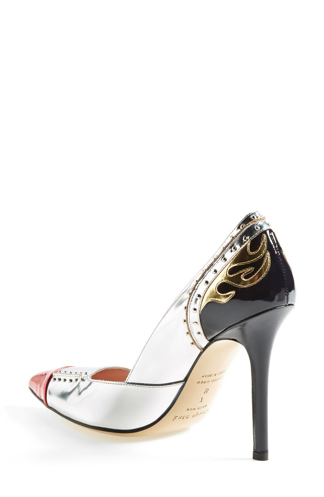 'lunar' pointy toe pump,                             Alternate thumbnail 4, color,                             040