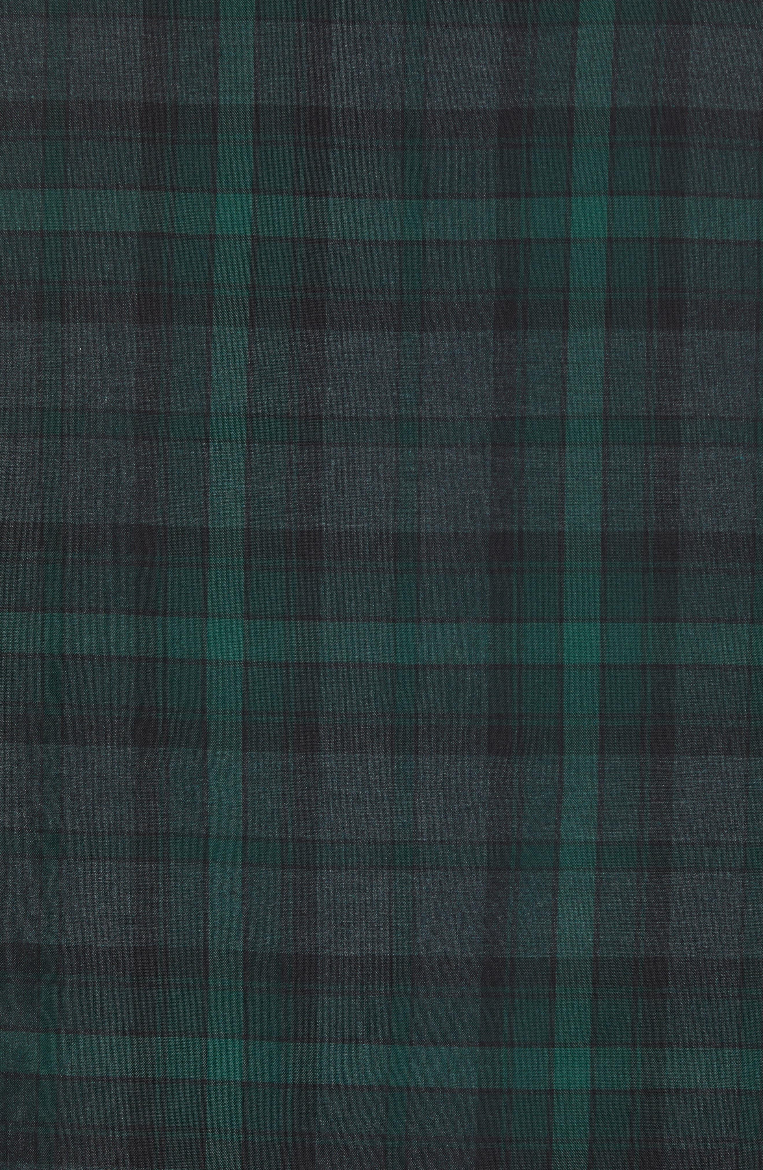 Regular Fit Plaid Flannel Sport Shirt,                             Alternate thumbnail 5, color,                             GREEN FOREST GREY PLAID