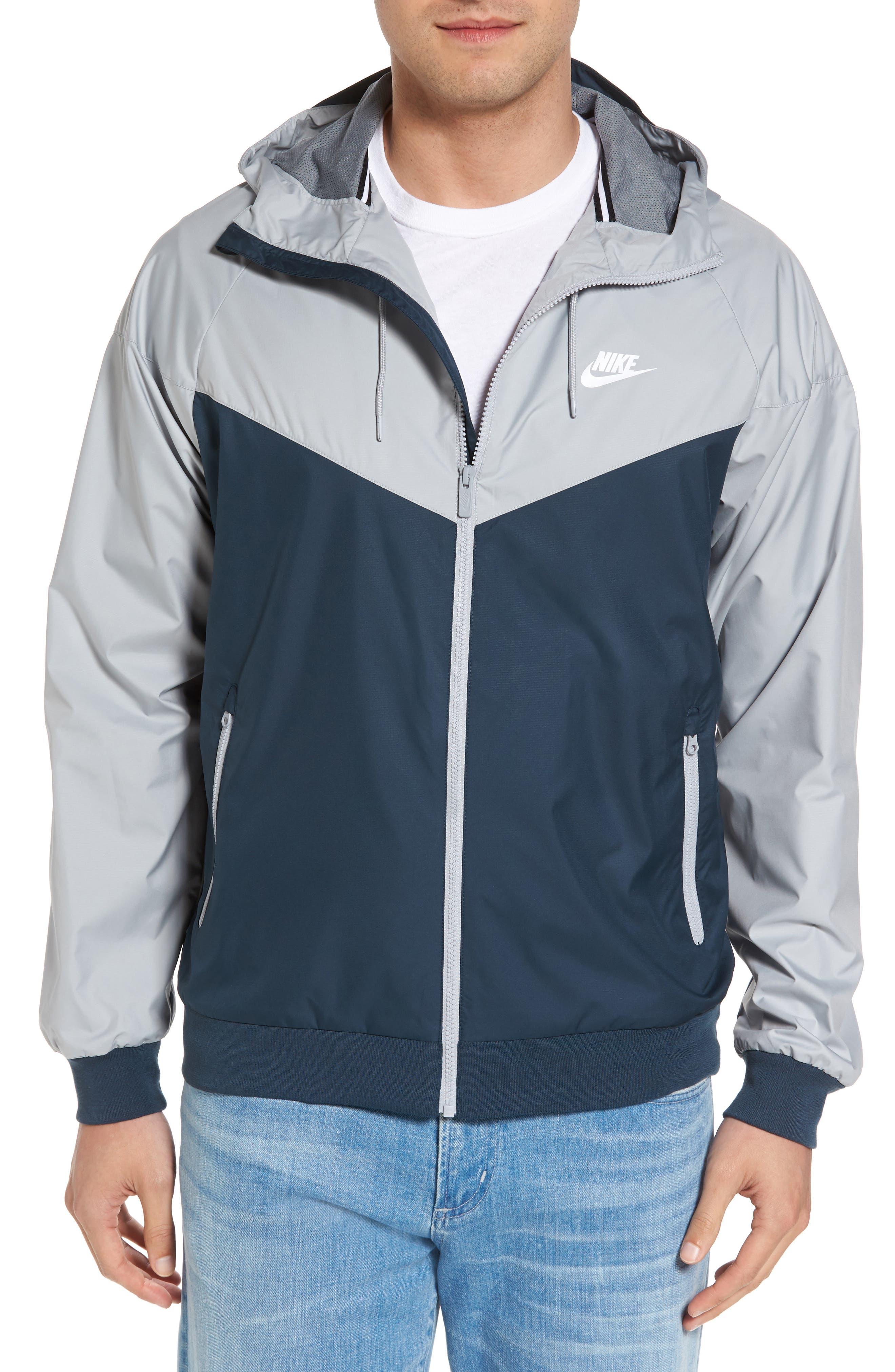 'Windrunner' Colorblock Jacket,                         Main,                         color, GREY/ BLUE