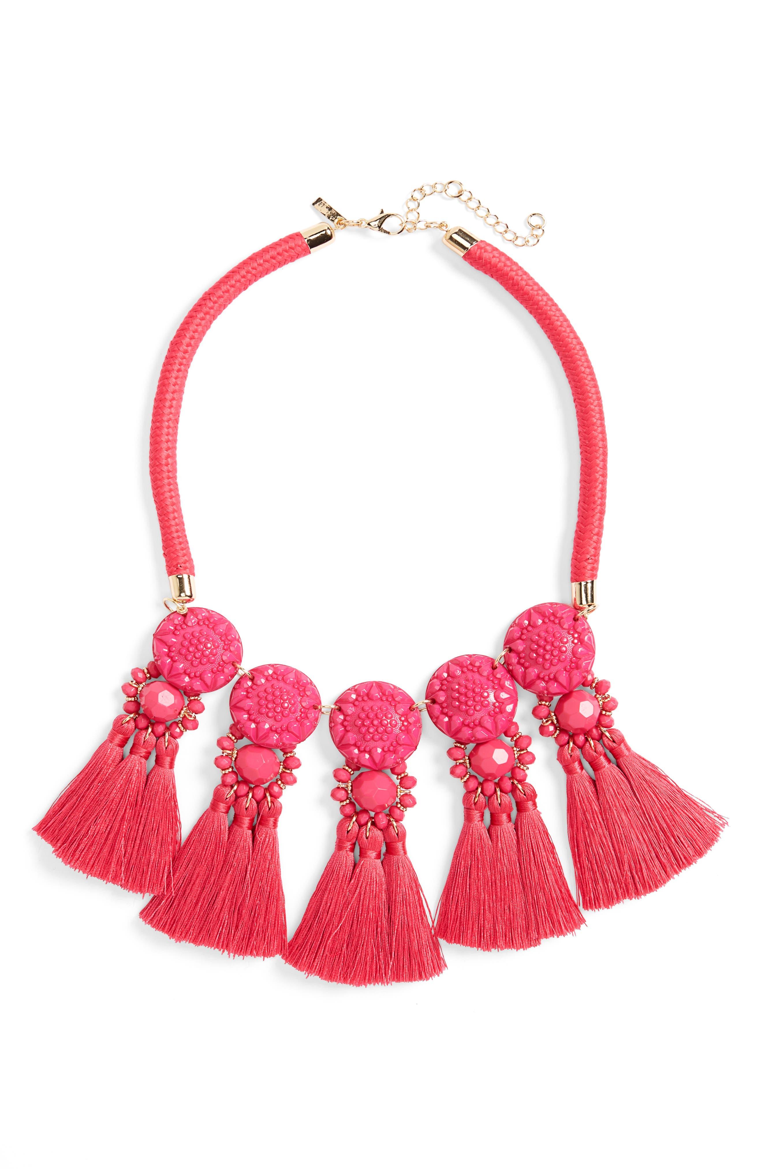 Multi Tassel Collar Necklace,                         Main,                         color, 650