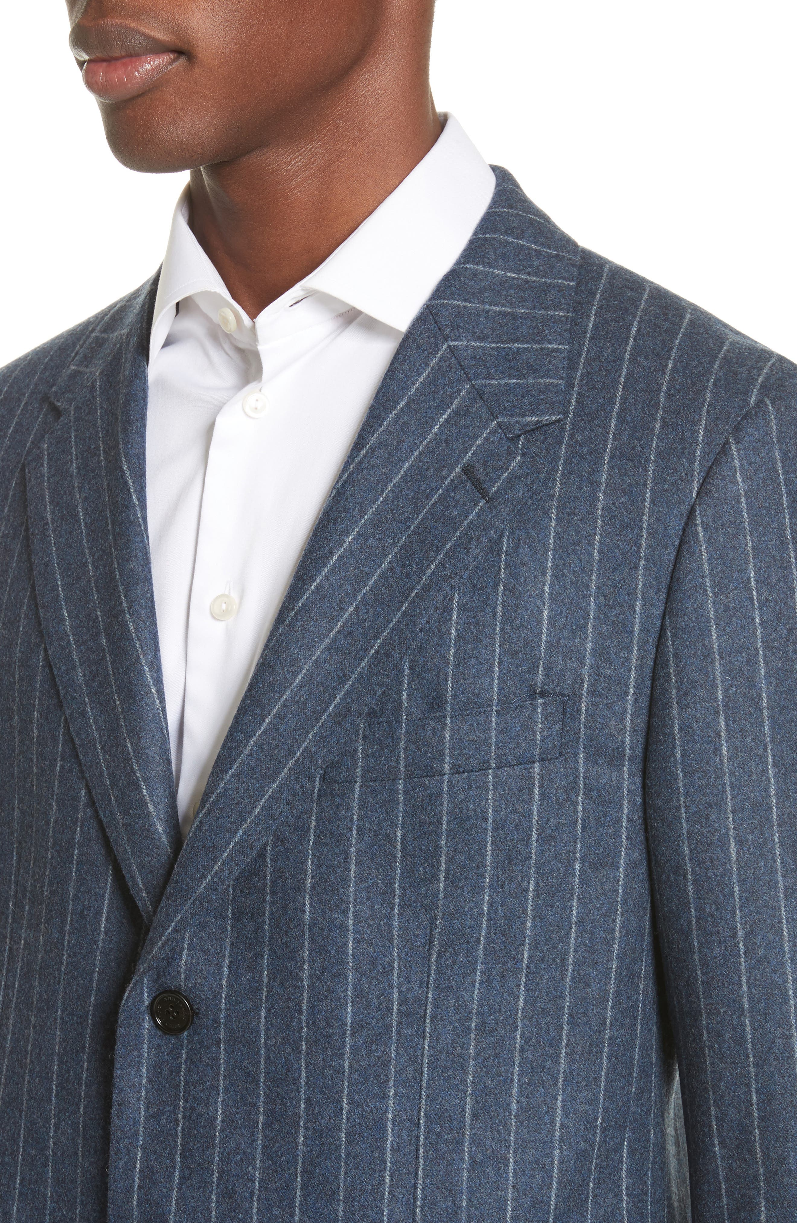 Trim Fit Wool Sport Coat,                             Alternate thumbnail 4, color,