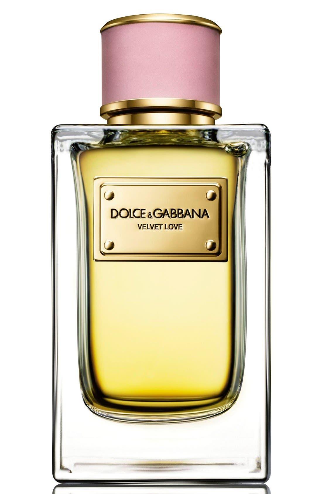 Dolce&GabbanaBeauty 'Velvet Love' Eau de Parfum,                             Alternate thumbnail 4, color,                             NO COLOR