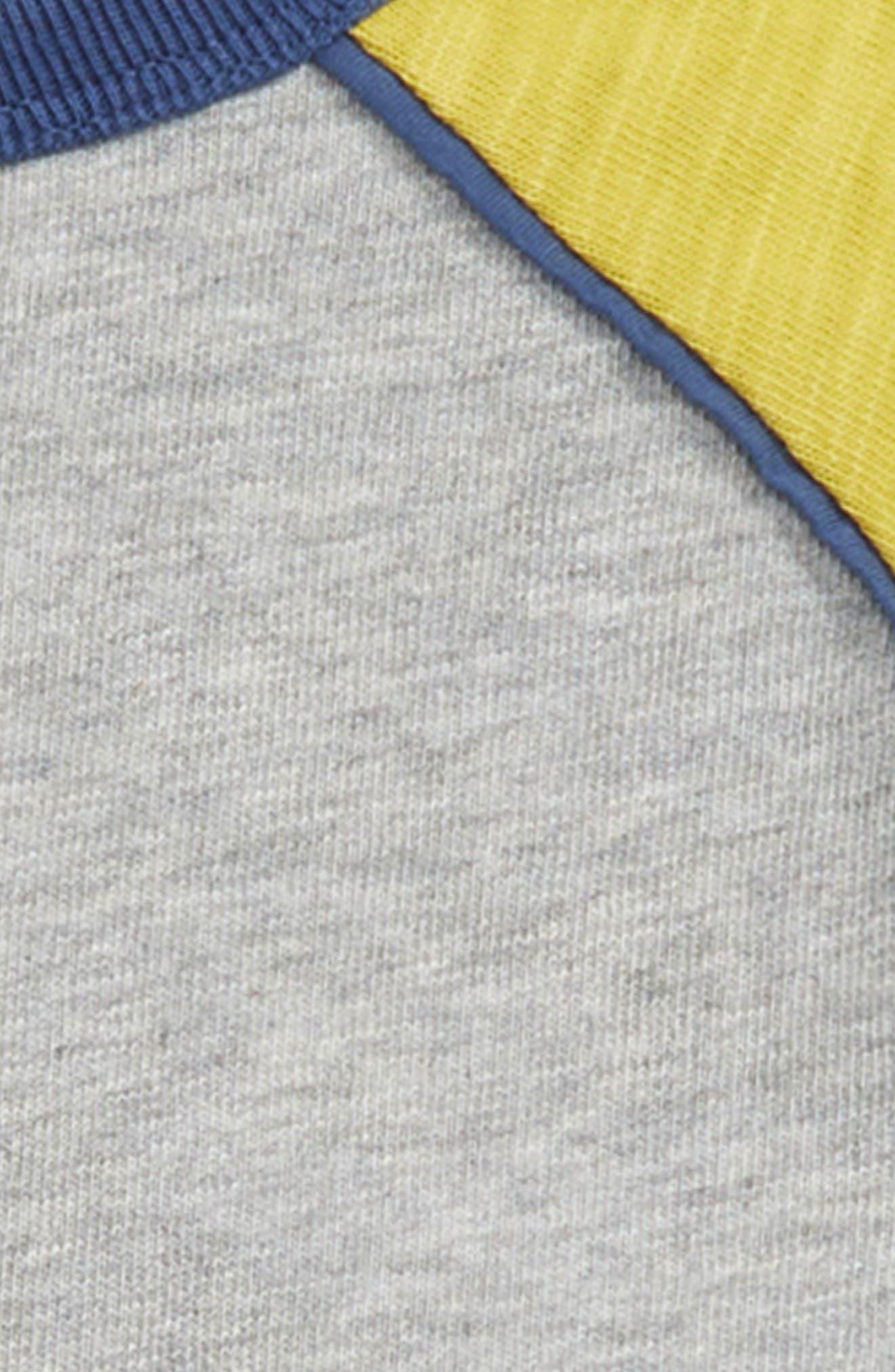 Raglan T-Shirt,                             Alternate thumbnail 2, color,                             GREY MARL/ CELERY YELLOW