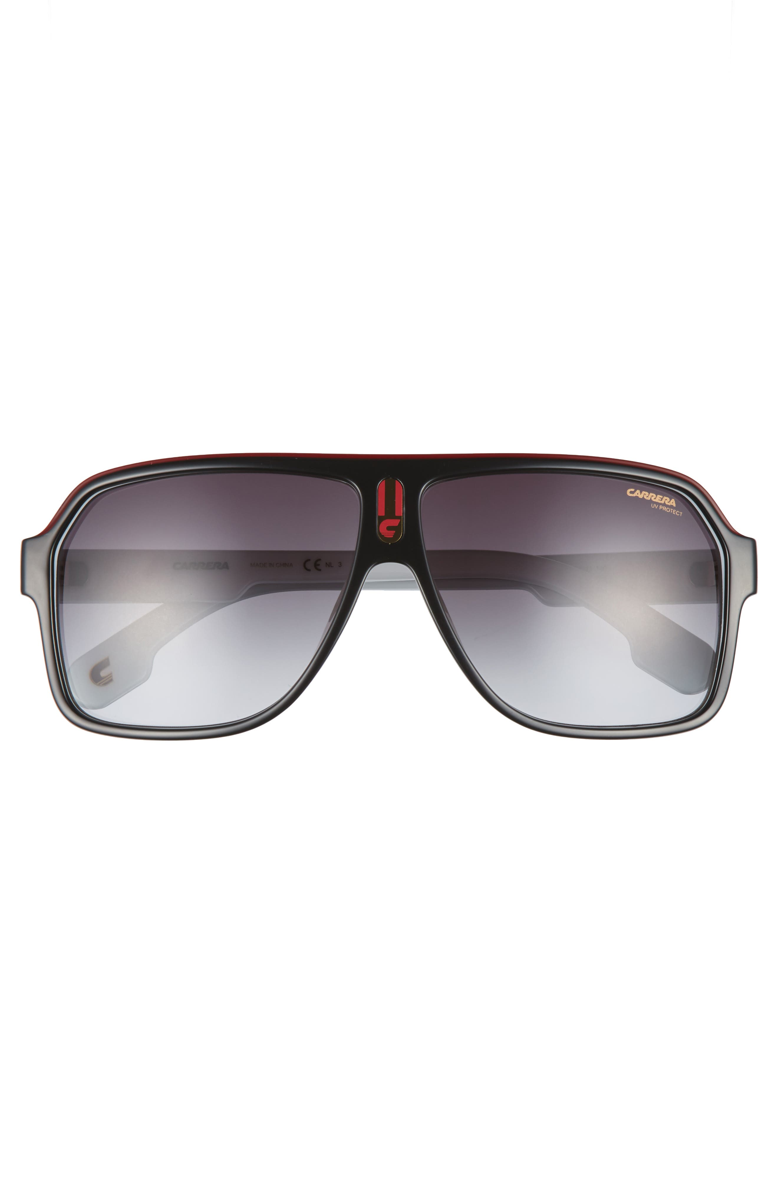 1001/S 62mm Sunglasses,                             Alternate thumbnail 2, color,                             BLACK WHITE