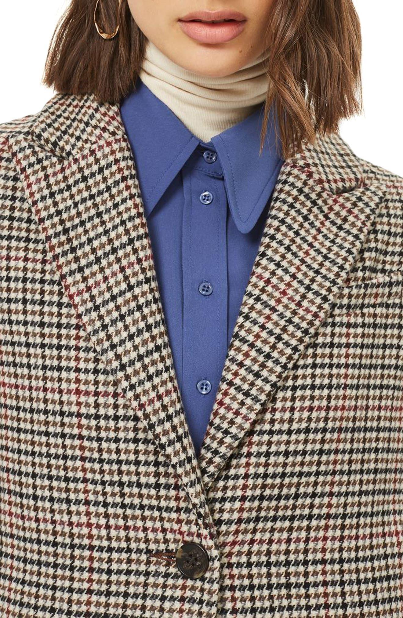 Bonded Check Coat,                             Alternate thumbnail 3, color,                             251