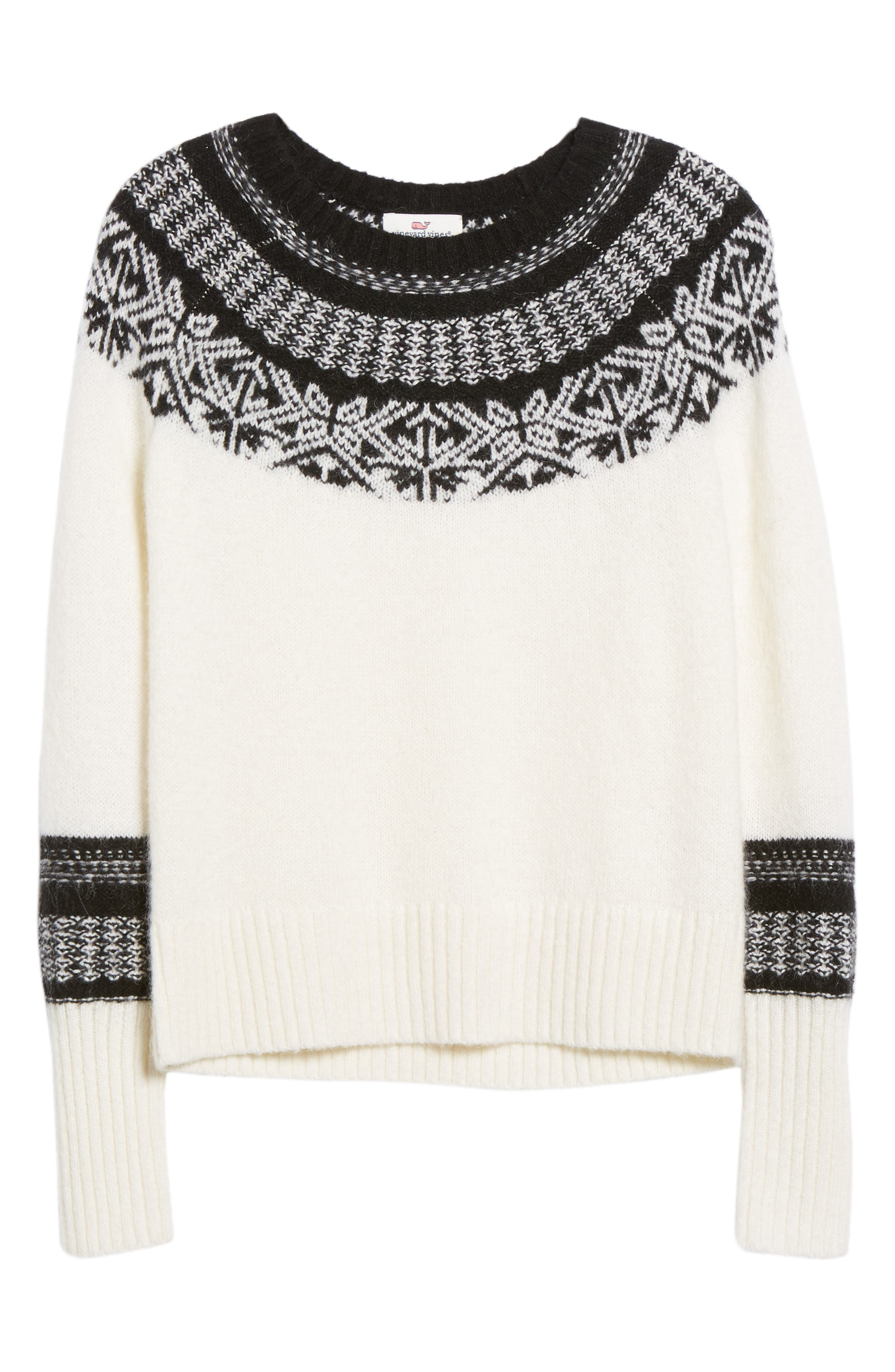 Nordic Fair Isle Sweater,                             Alternate thumbnail 6, color,                             900