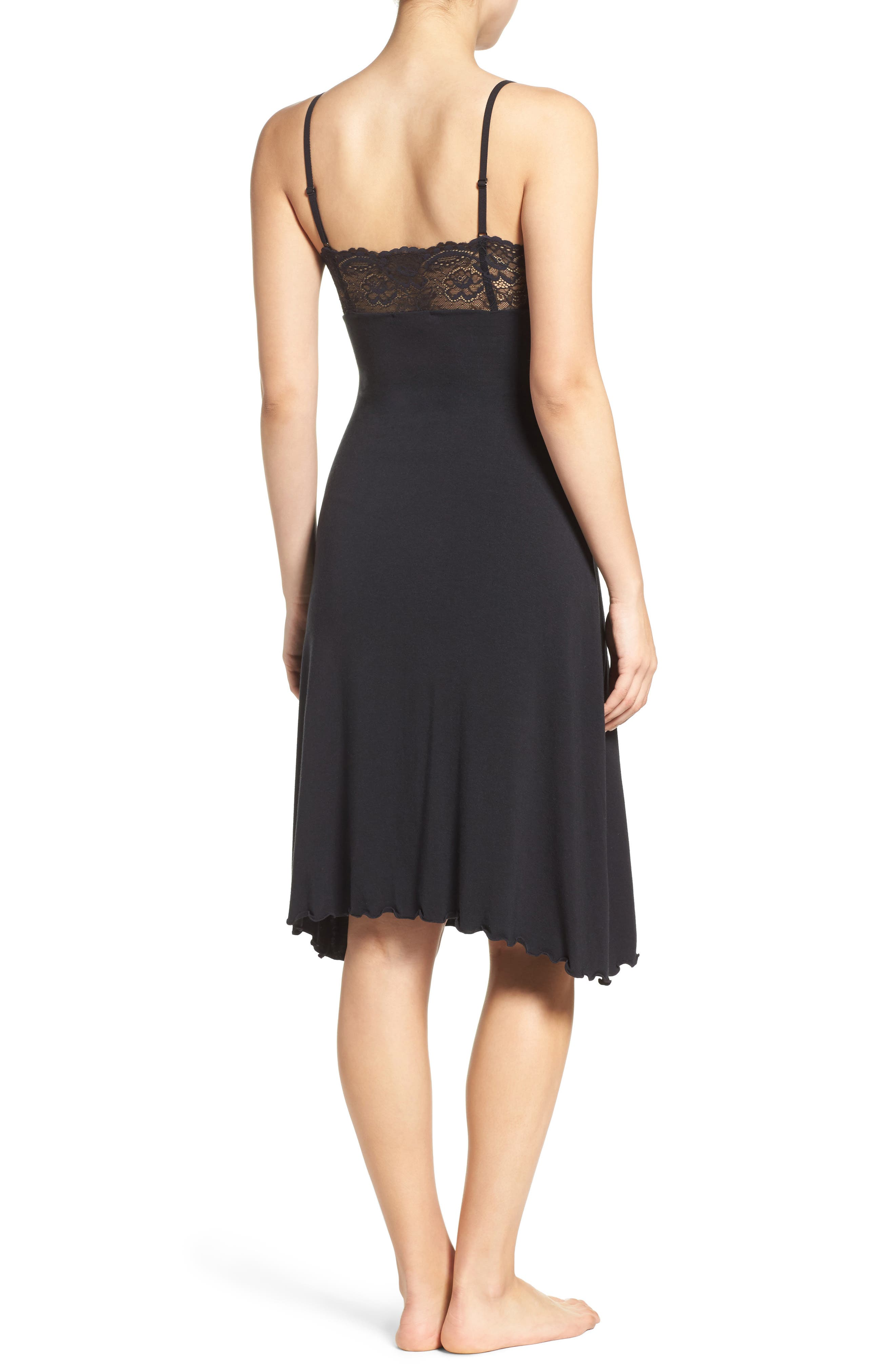 Ballet Nightgown,                             Alternate thumbnail 2, color,                             BLACK/ BLACK