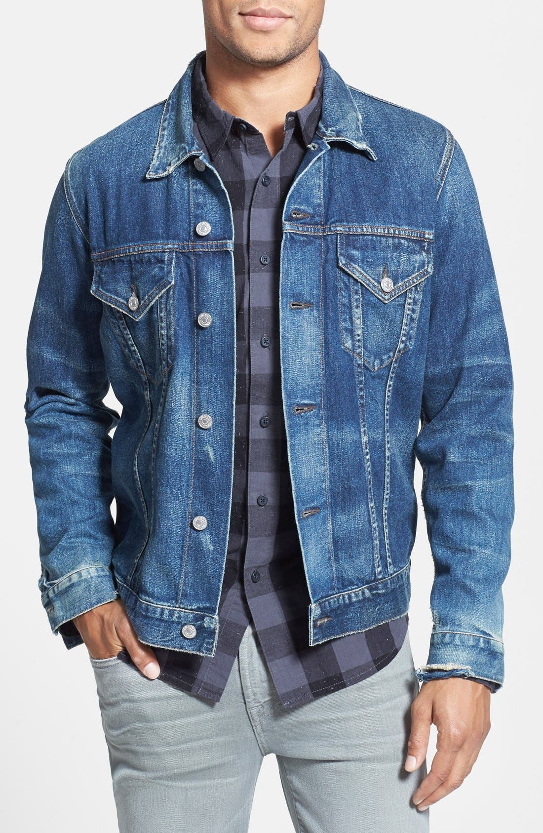 Classic Selvedge Denim Jacket,                         Main,                         color, 479