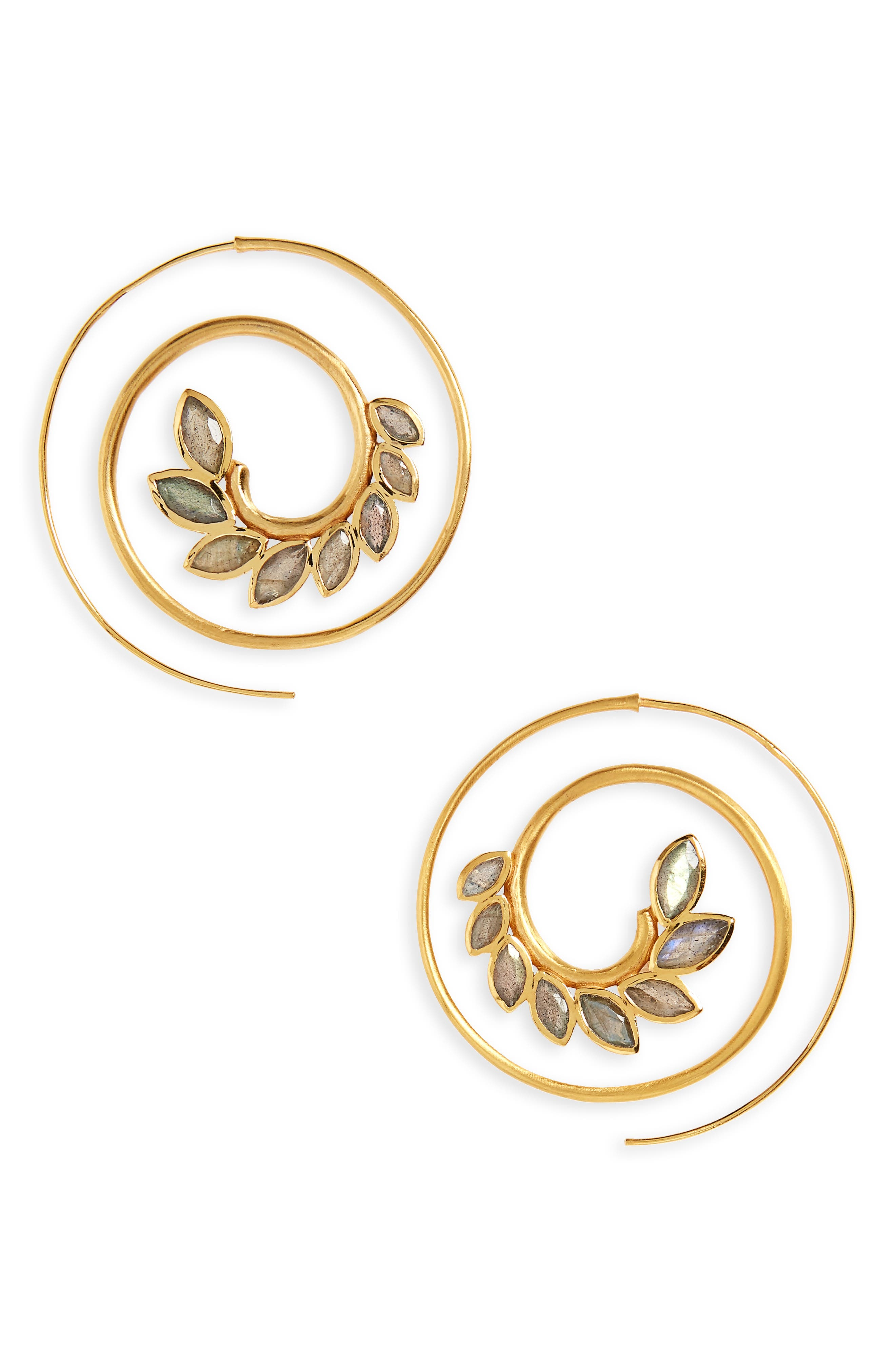 Kamala Spiral Earrings,                             Main thumbnail 1, color,                             710