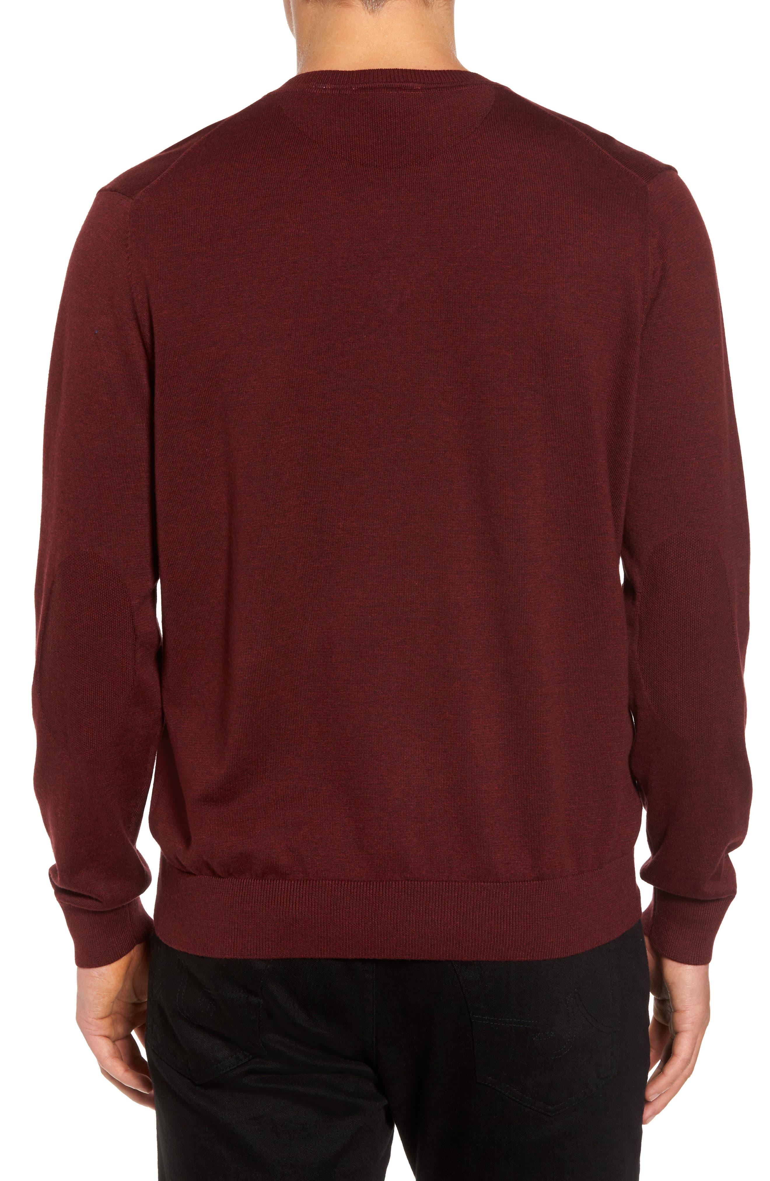 Cotton Jersey V-Neck Sweater,                             Alternate thumbnail 8, color,