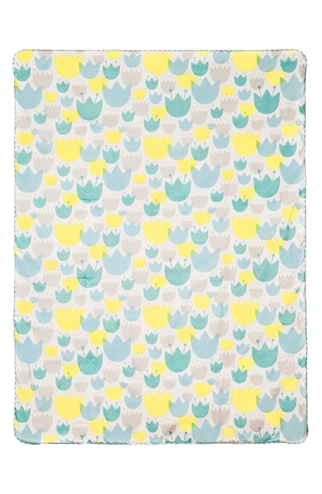 'Garden' Crib Sheet, Crib Skirt, Changing Pad Cover, Play Blanket & Wall Decals,                             Alternate thumbnail 3, color,                             BLUE