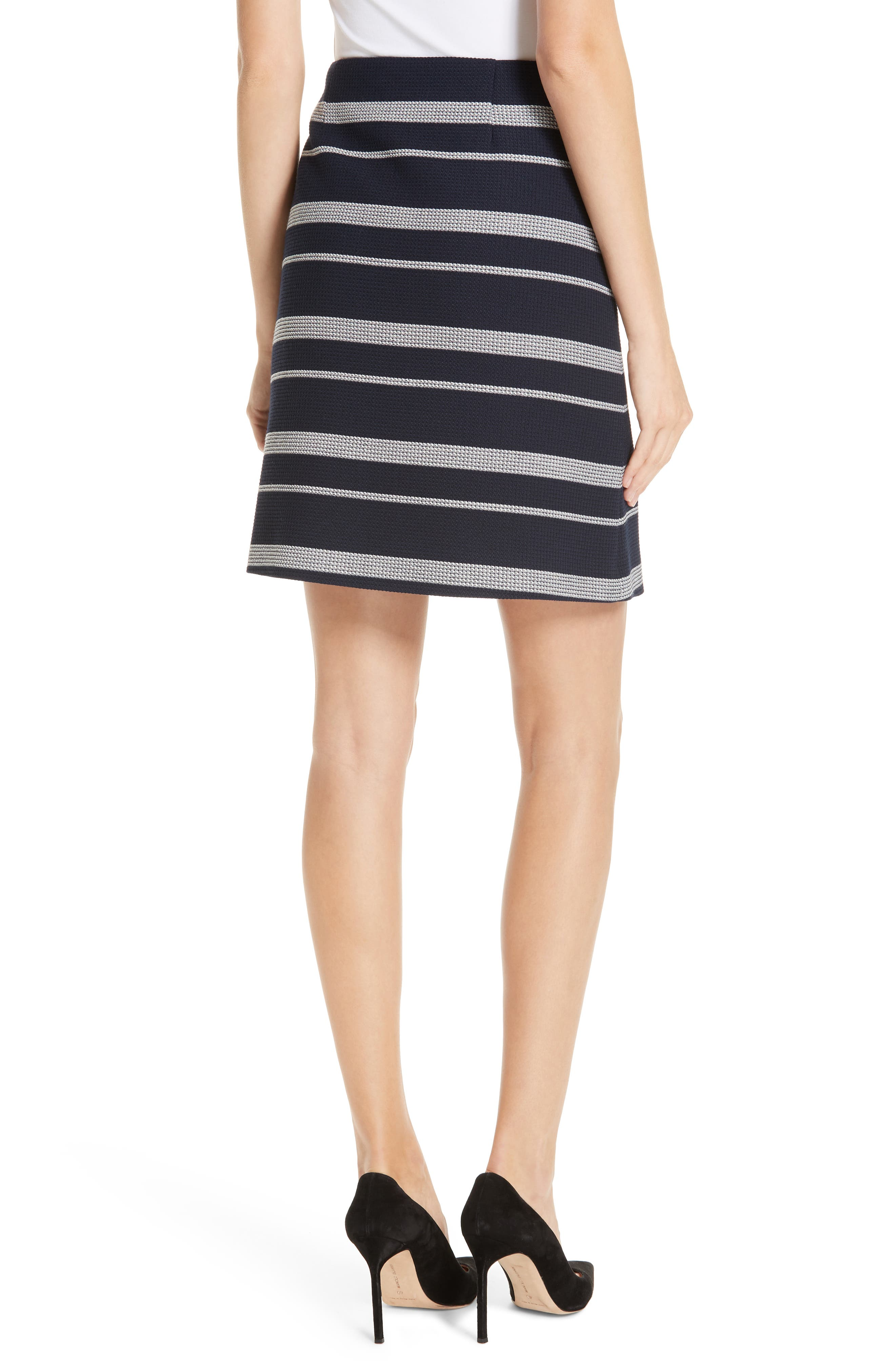 Stripe Jacquard Skirt,                             Alternate thumbnail 2, color,                             NAVY FANTASY