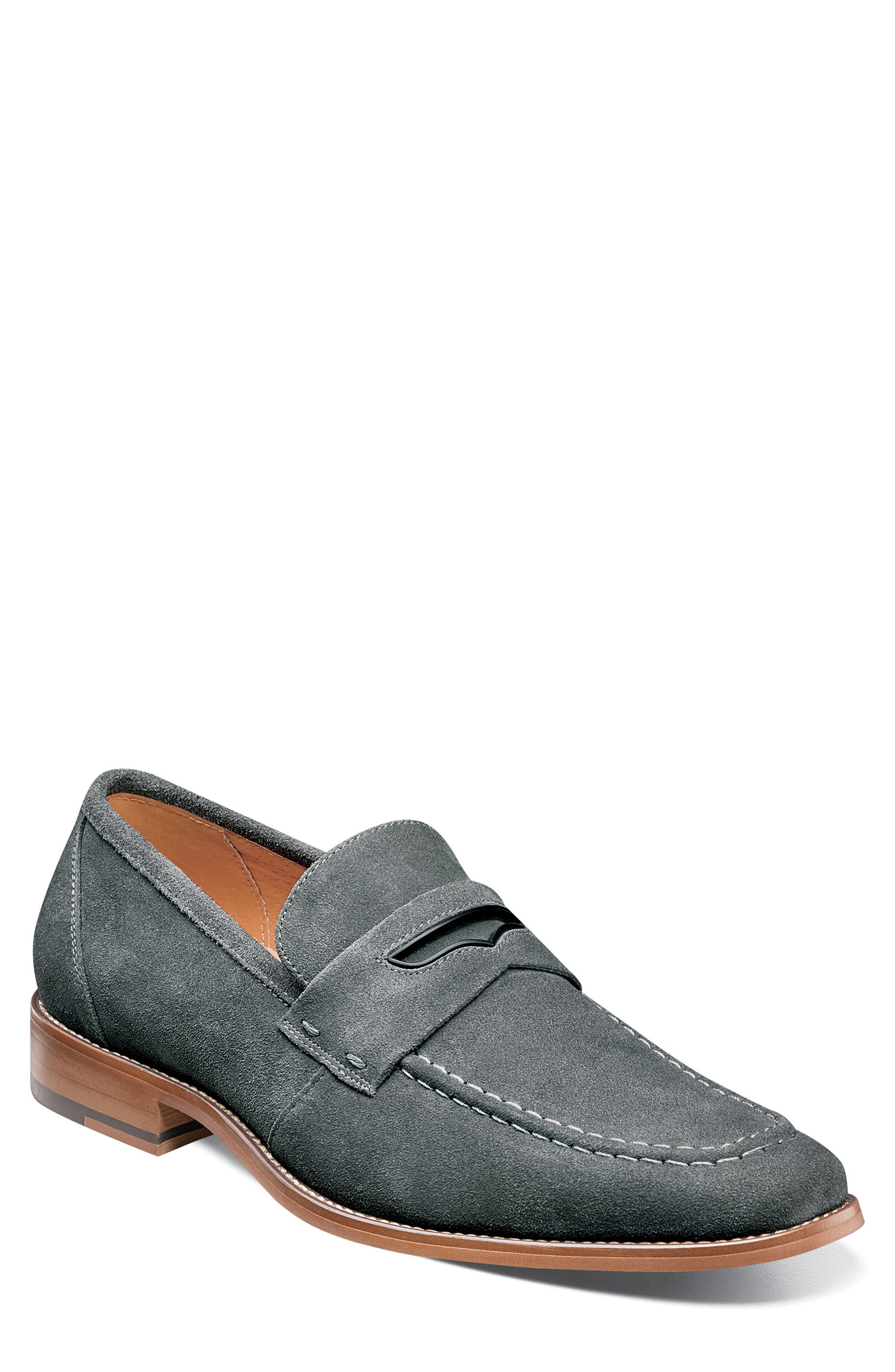 Stacy Adams Colfax Apron Toe Penny Loafer- Grey