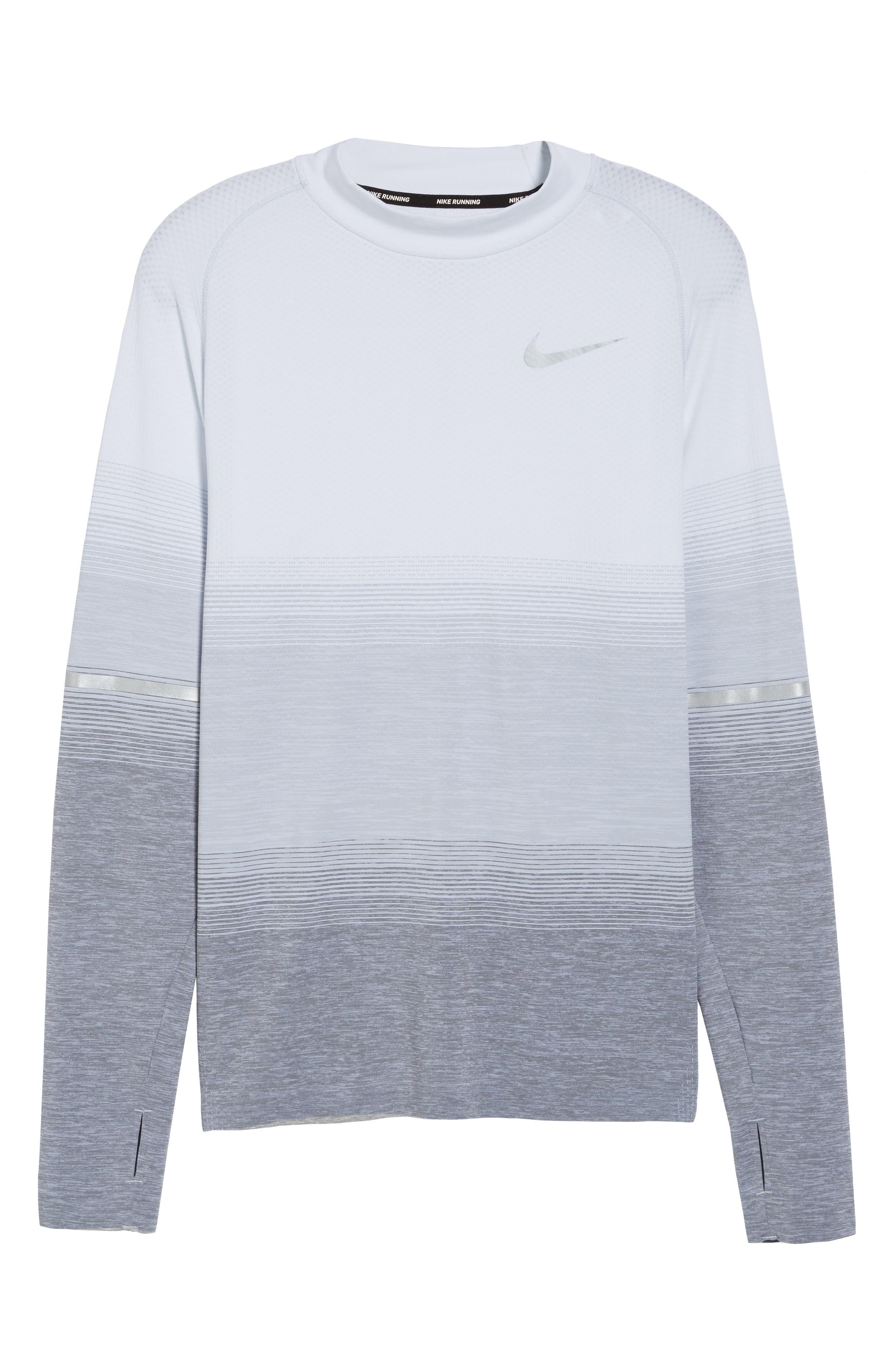 Dry Running Mock Neck Long Sleeve T-Shirt,                             Alternate thumbnail 6, color,                             053