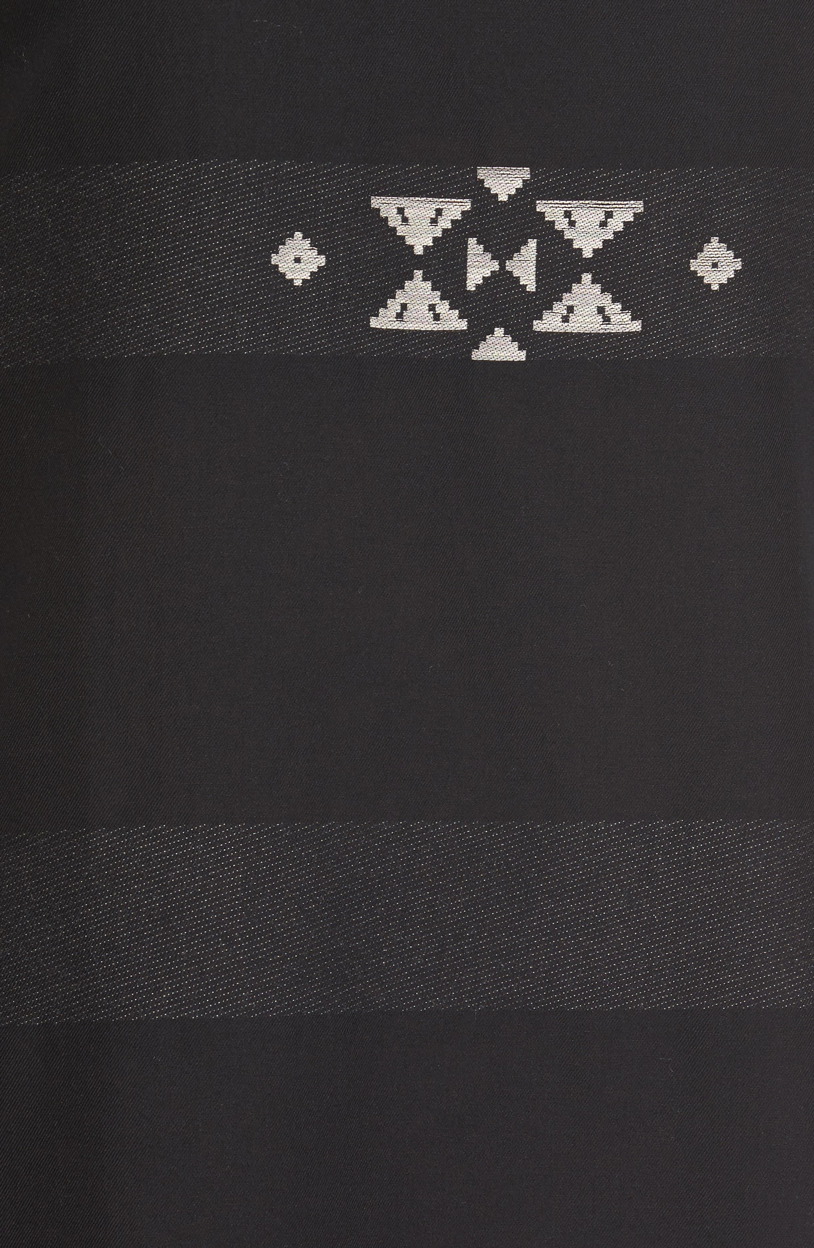 Cotton Jacquard Shirt Dress,                             Alternate thumbnail 6, color,                             001