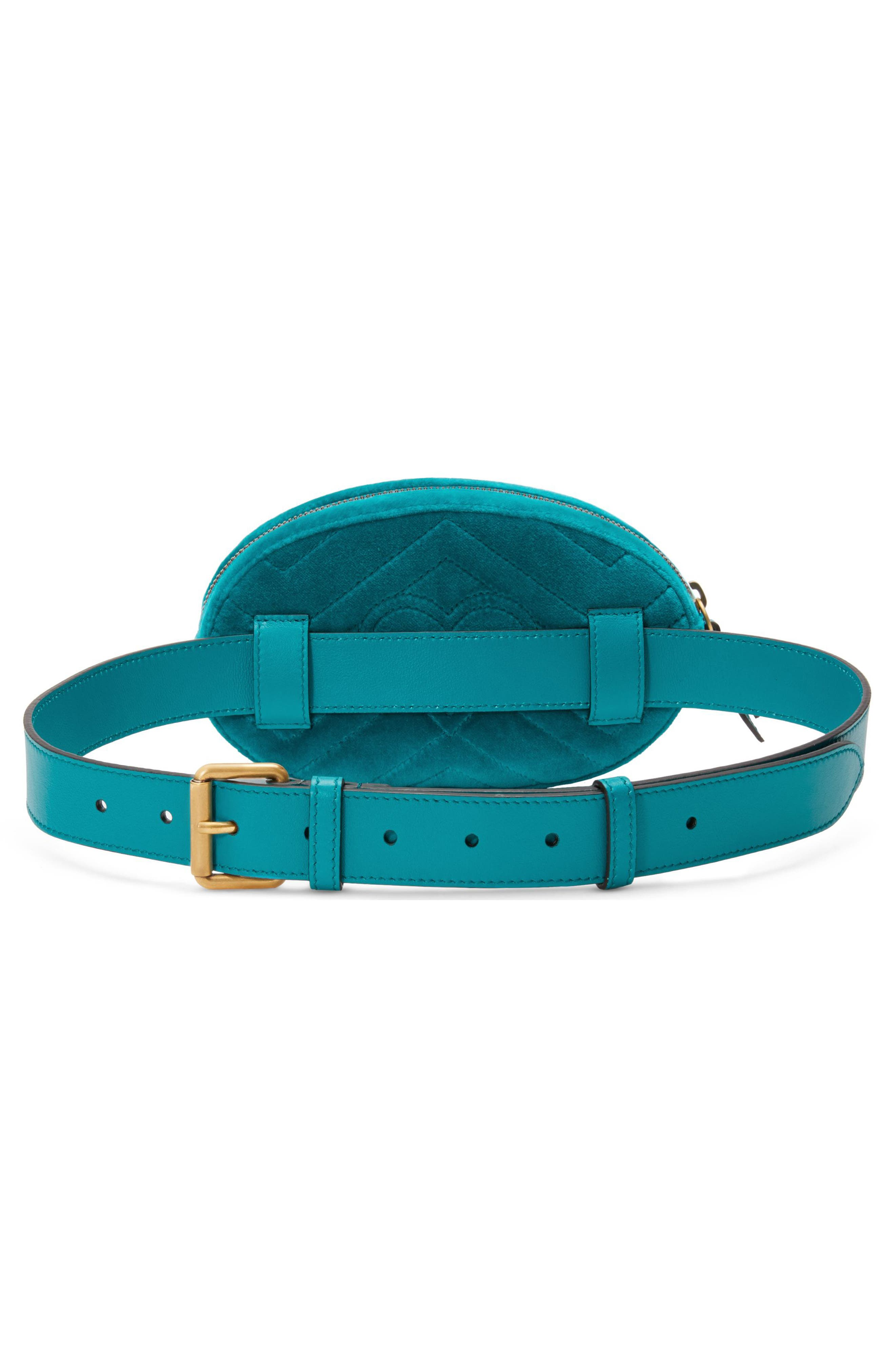 GG Marmont 2.0 Embroidered Velvet Belt Bag,                             Alternate thumbnail 2, color,