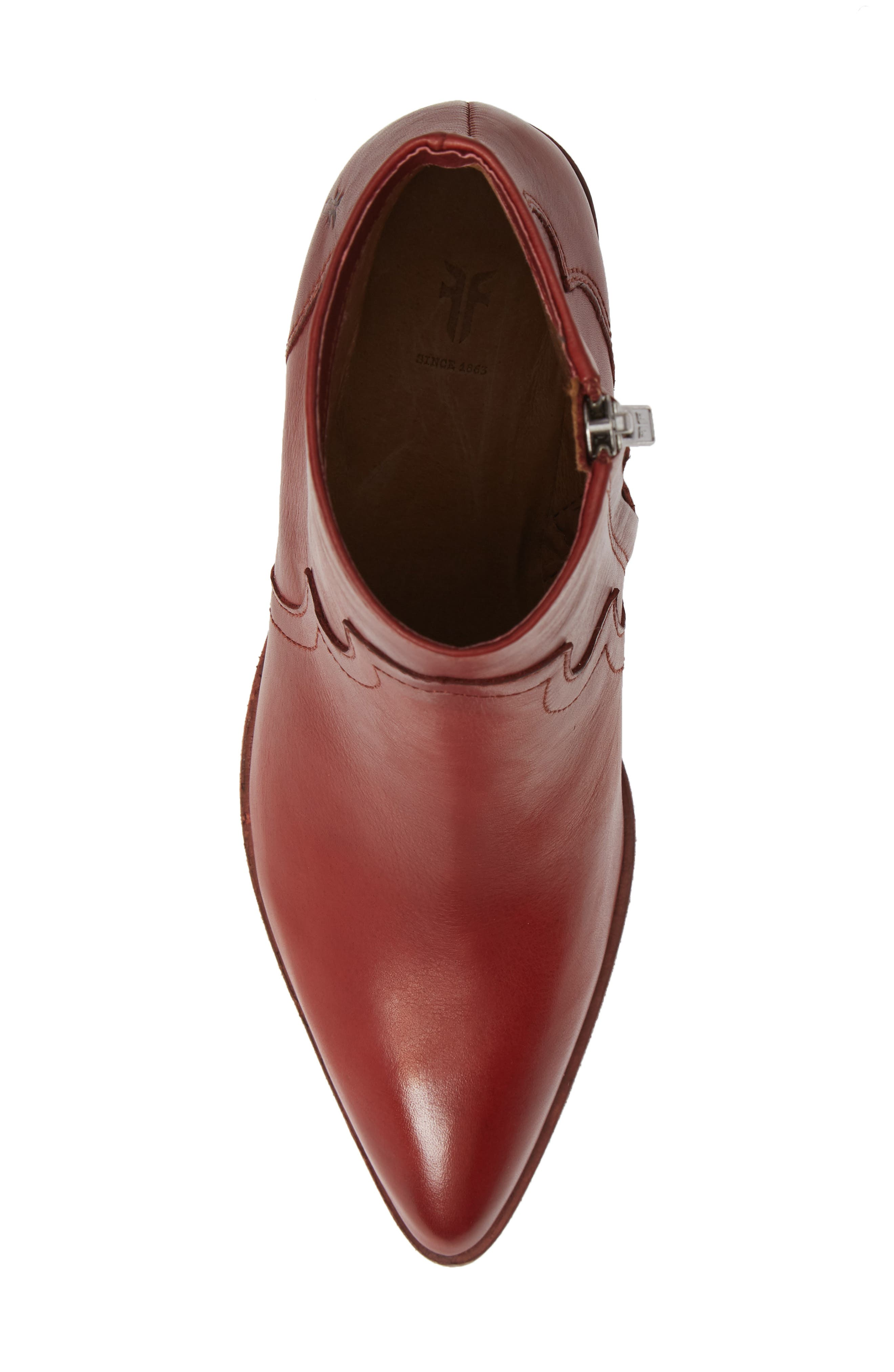 Flynn Bootie,                             Alternate thumbnail 5, color,                             RED CLAY LEATHER