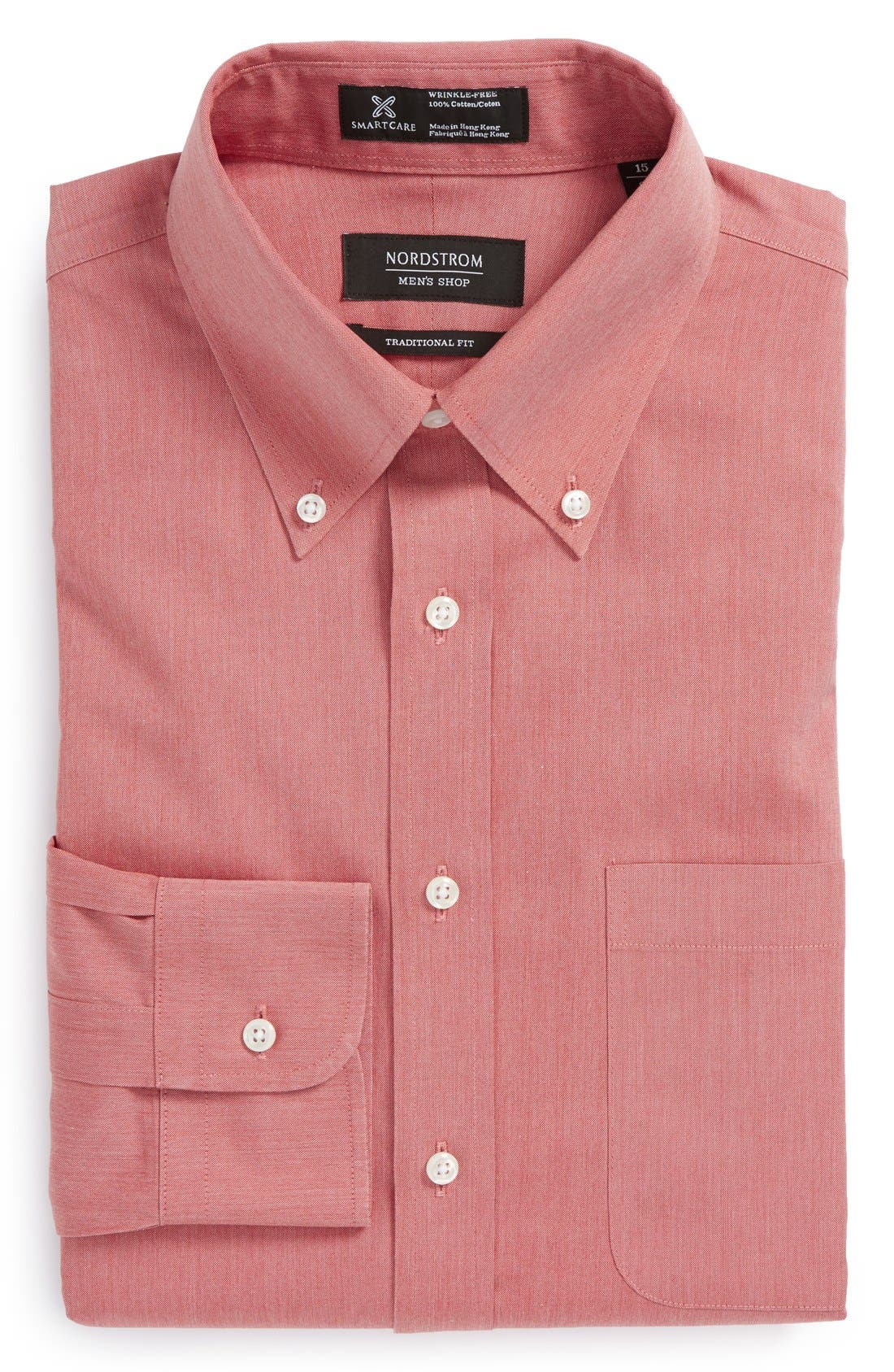 Smartcare<sup>™</sup> Traditional Fit Pinpoint Dress Shirt,                             Main thumbnail 43, color,