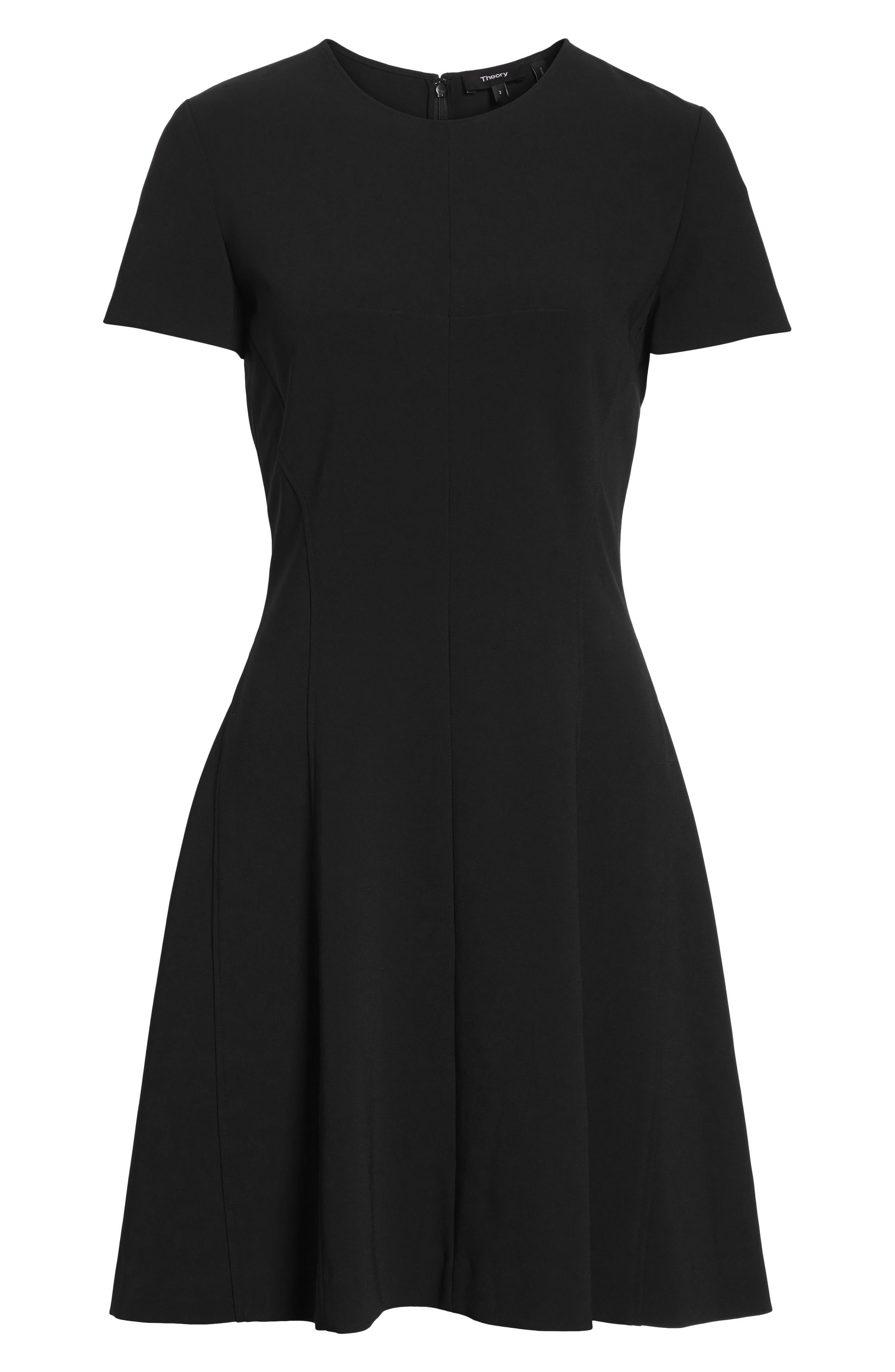 Modern Seamed Dress,                             Alternate thumbnail 8, color,                             001