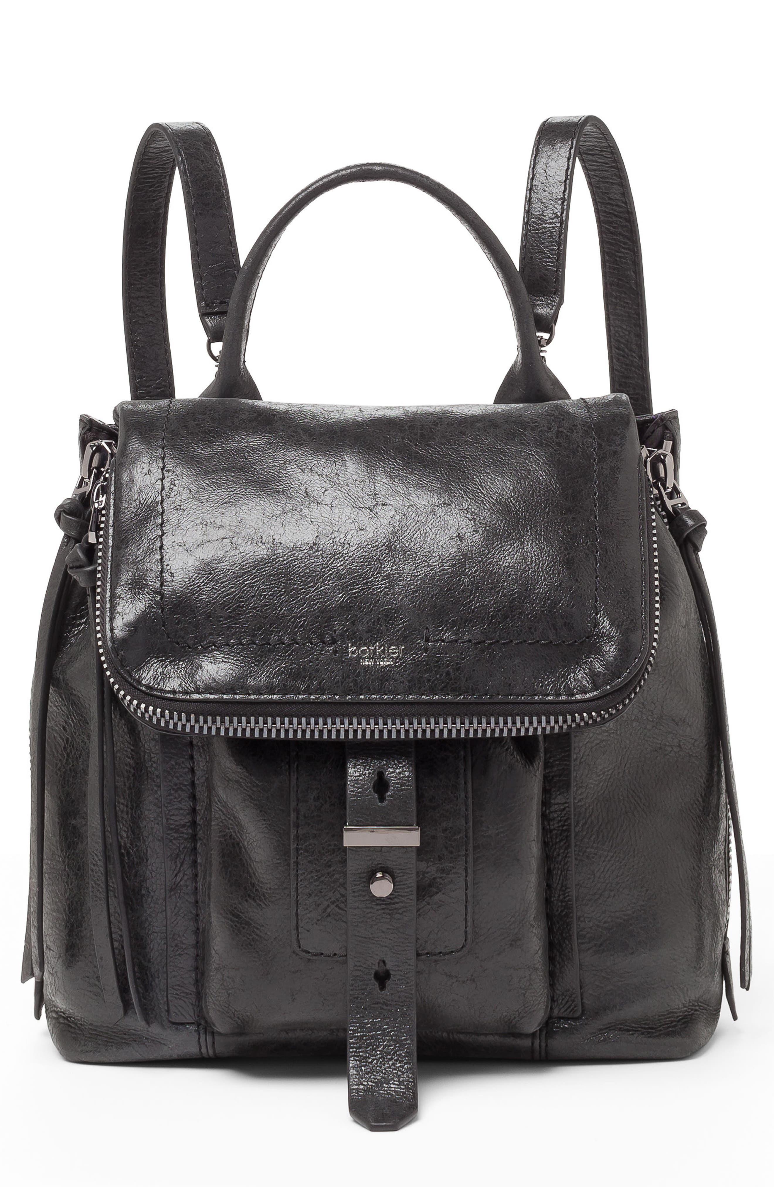 Warren Leather Backpack,                         Main,                         color, 001