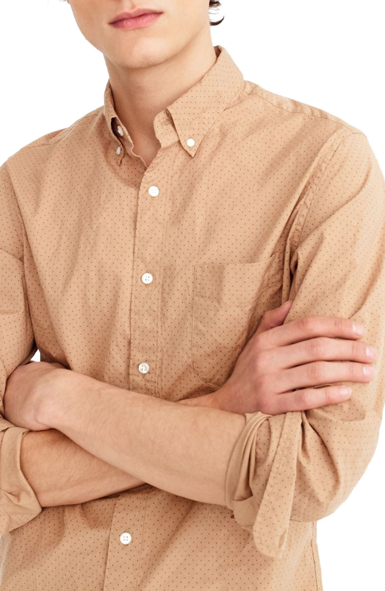 Slim Fit Stretch Secret Wash Dot Sport Shirt,                             Alternate thumbnail 2, color,                             200