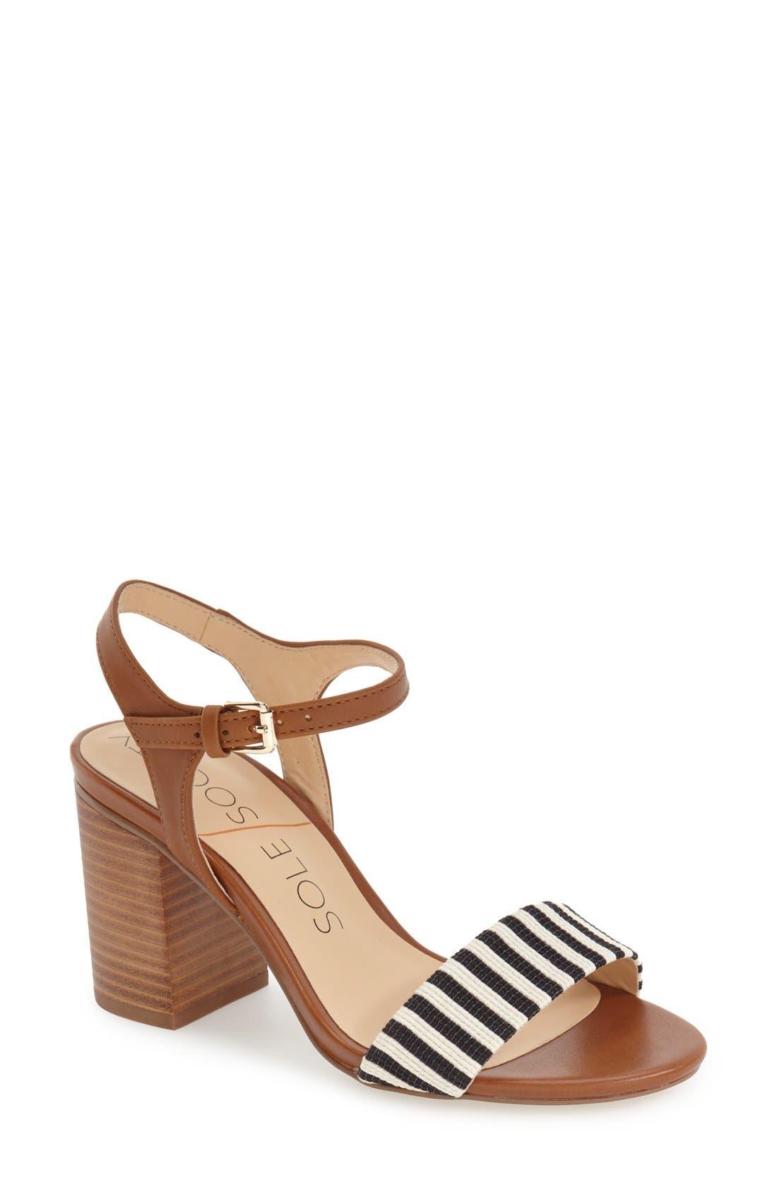 'Linny' Ankle Strap Sandal,                             Main thumbnail 1, color,