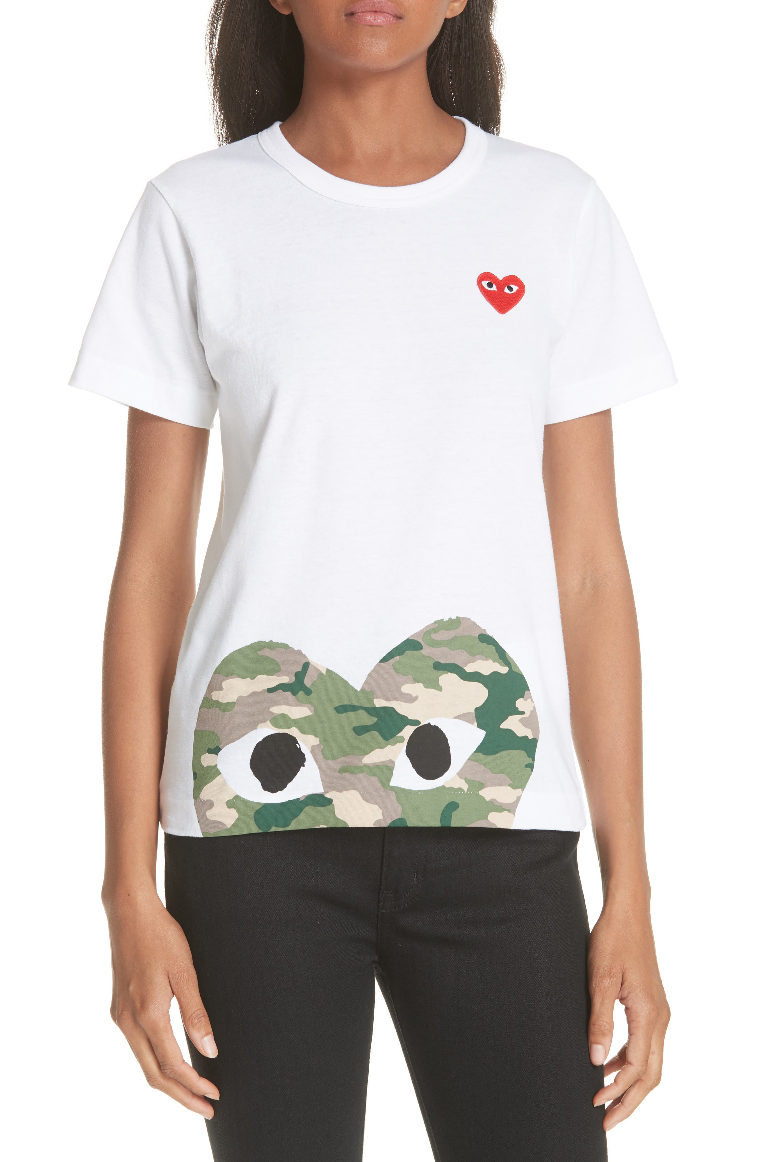 PLAY Graphic Tee,                         Main,                         color, WHITE