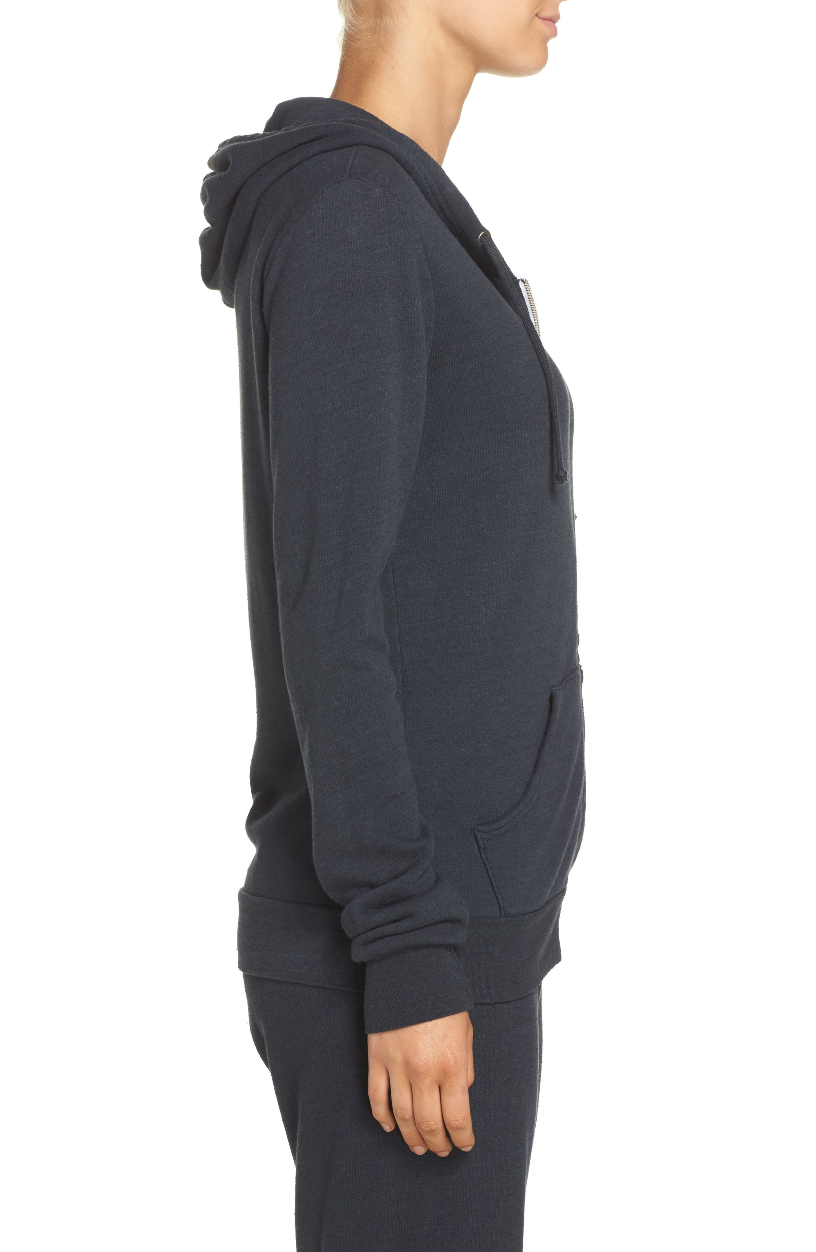 Bolt Zip Hoodie,                             Alternate thumbnail 3, color,                             CHARCOAL