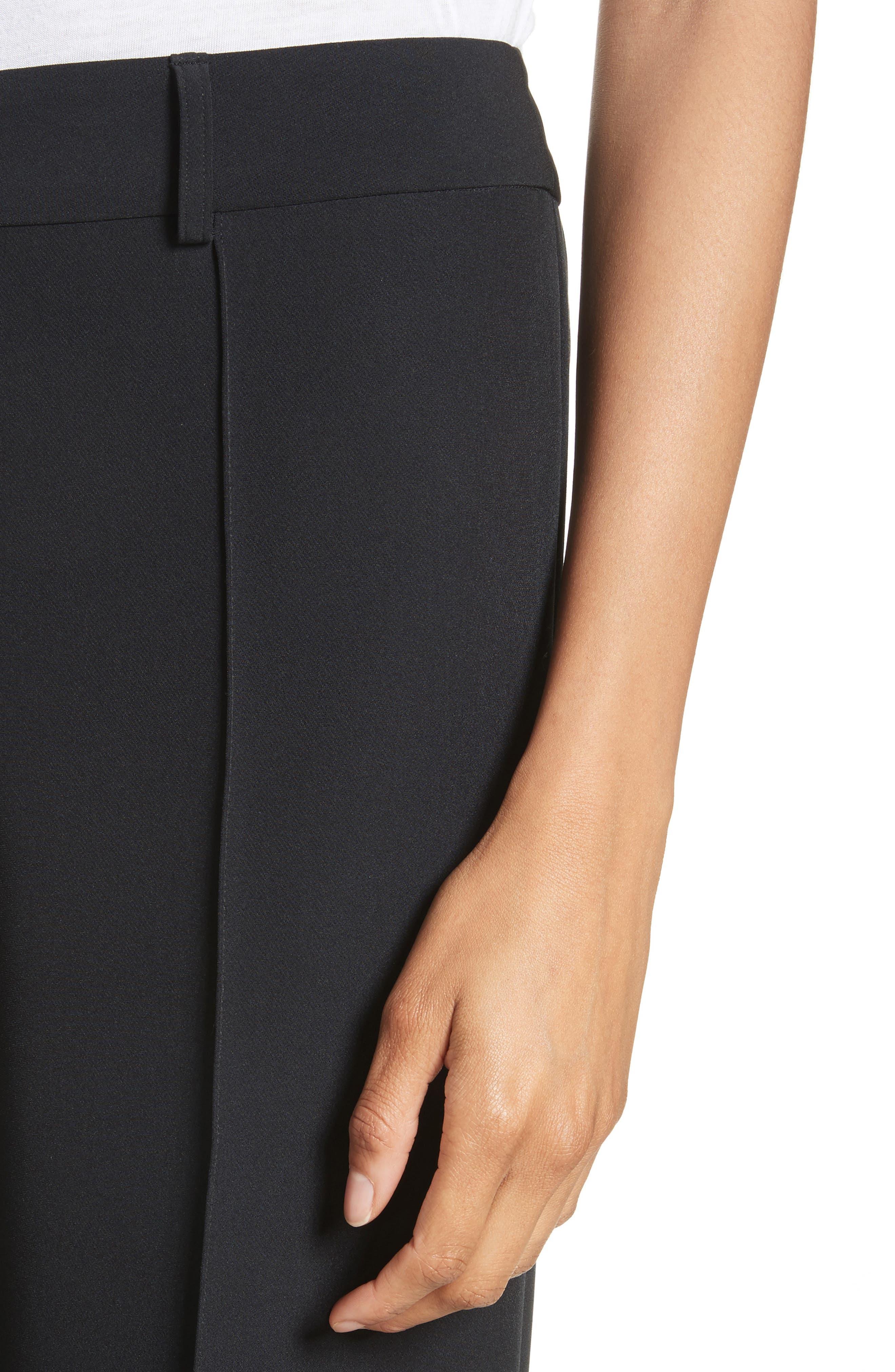 'Hayden' Wide Leg Trousers,                             Alternate thumbnail 4, color,                             BLACK