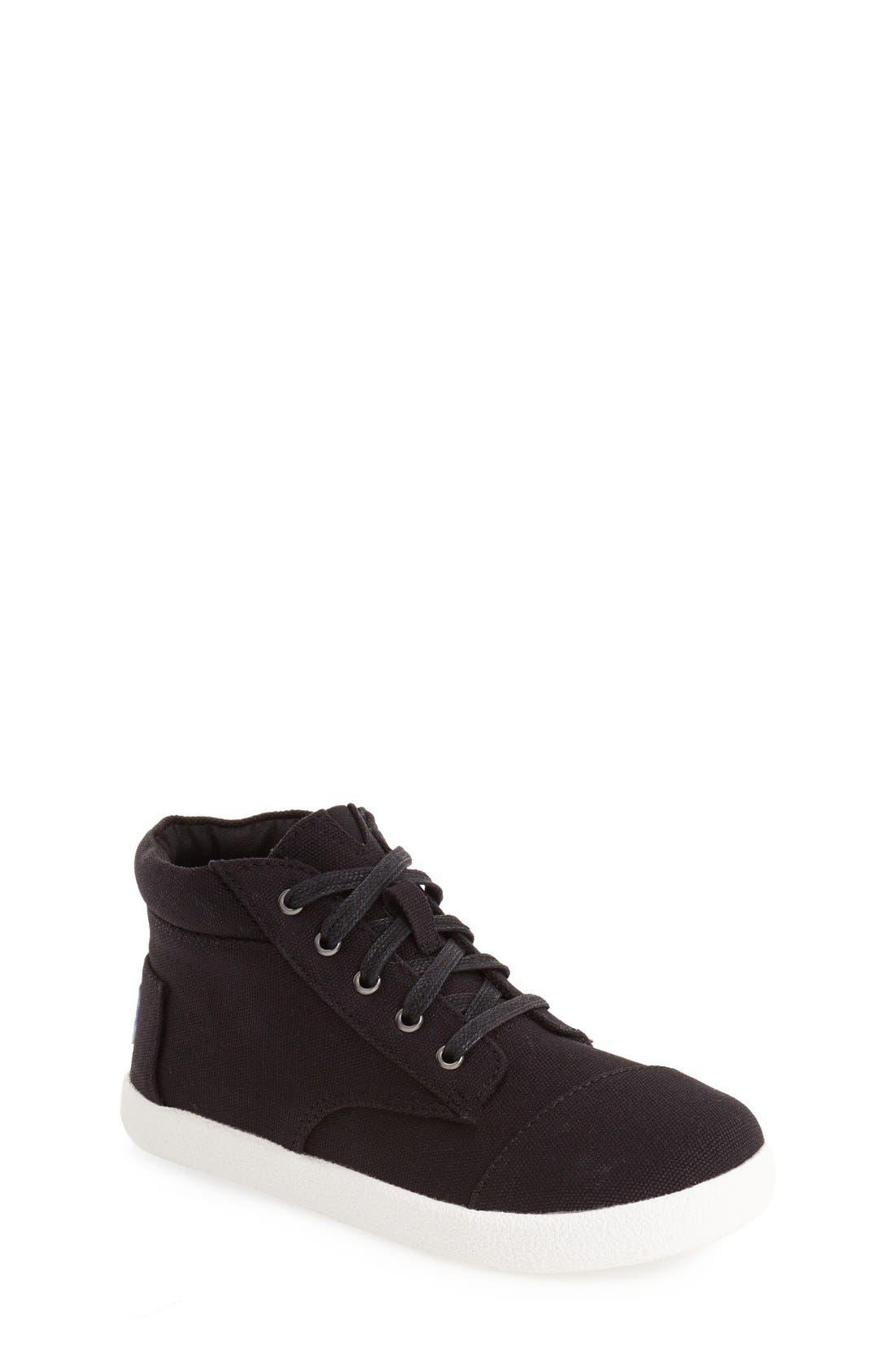 'Paseo' High Top Sneaker,                             Main thumbnail 1, color,                             BLACK