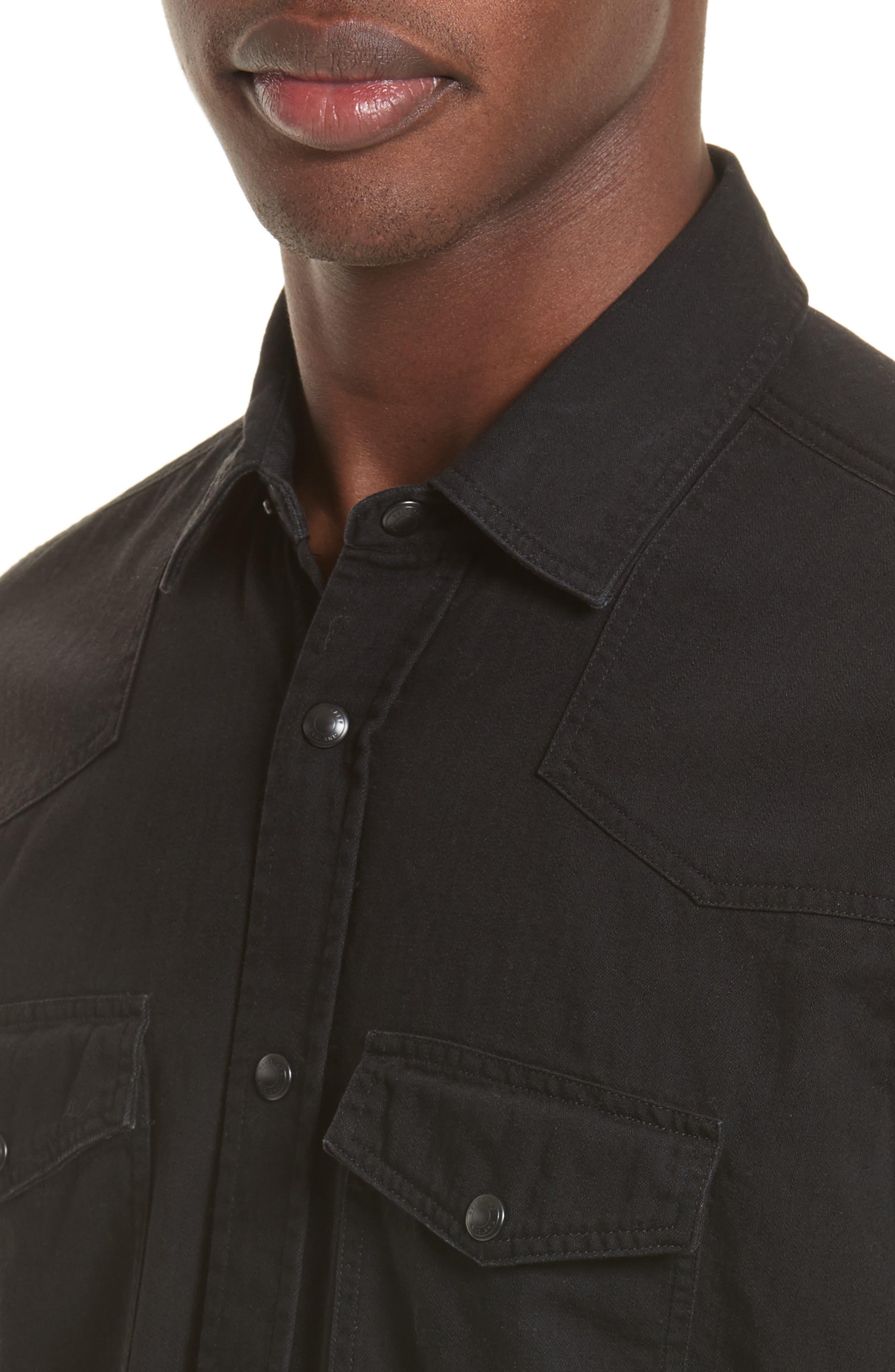Somerford Extra Trim Fit Denim Shirt,                             Alternate thumbnail 5, color,                             001