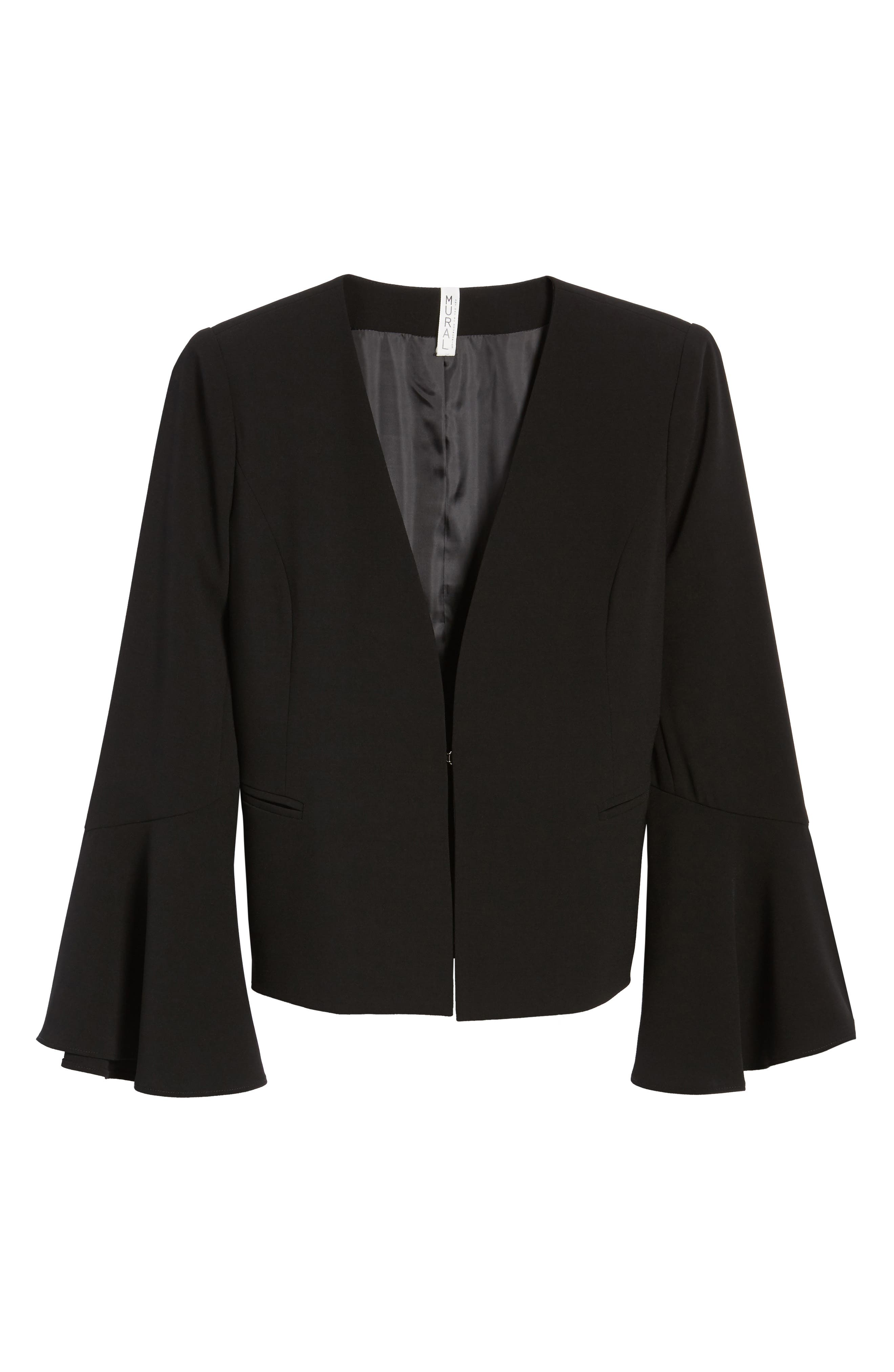 Bell Sleeve Jacket,                             Alternate thumbnail 5, color,                             001