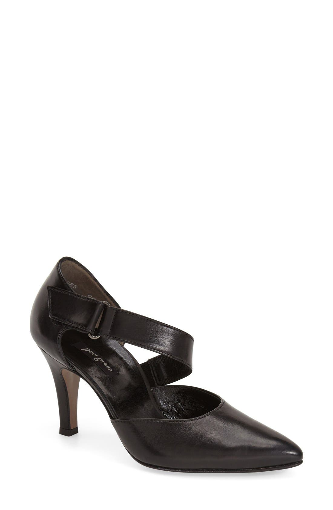 PAUL GREEN 'Desire' Pointy Toe d'Orsay Pump, Main, color, 001