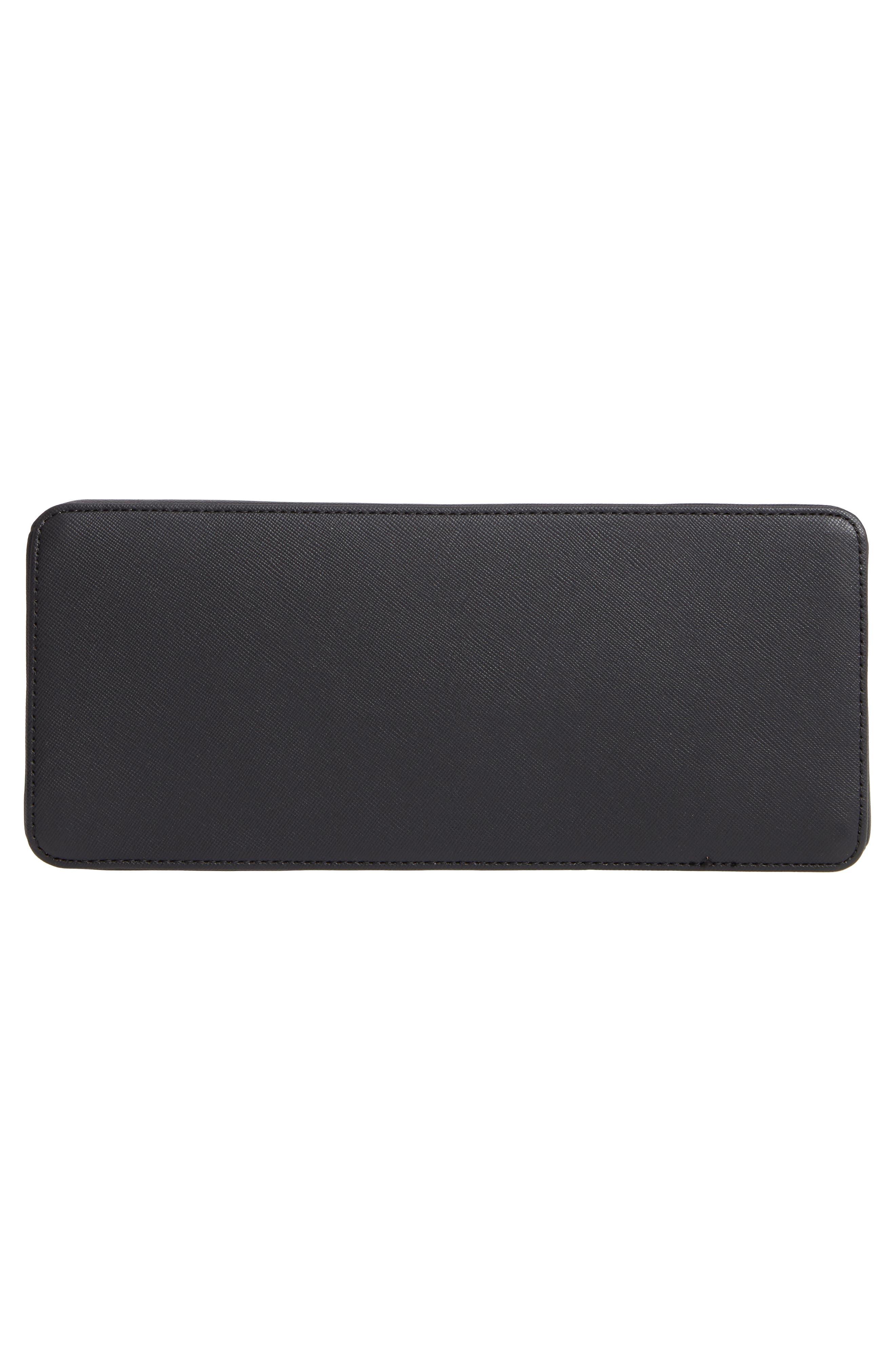 Splendour Lady Bag Faux Leather Top Handle Satchel,                             Alternate thumbnail 6, color,                             BLACK