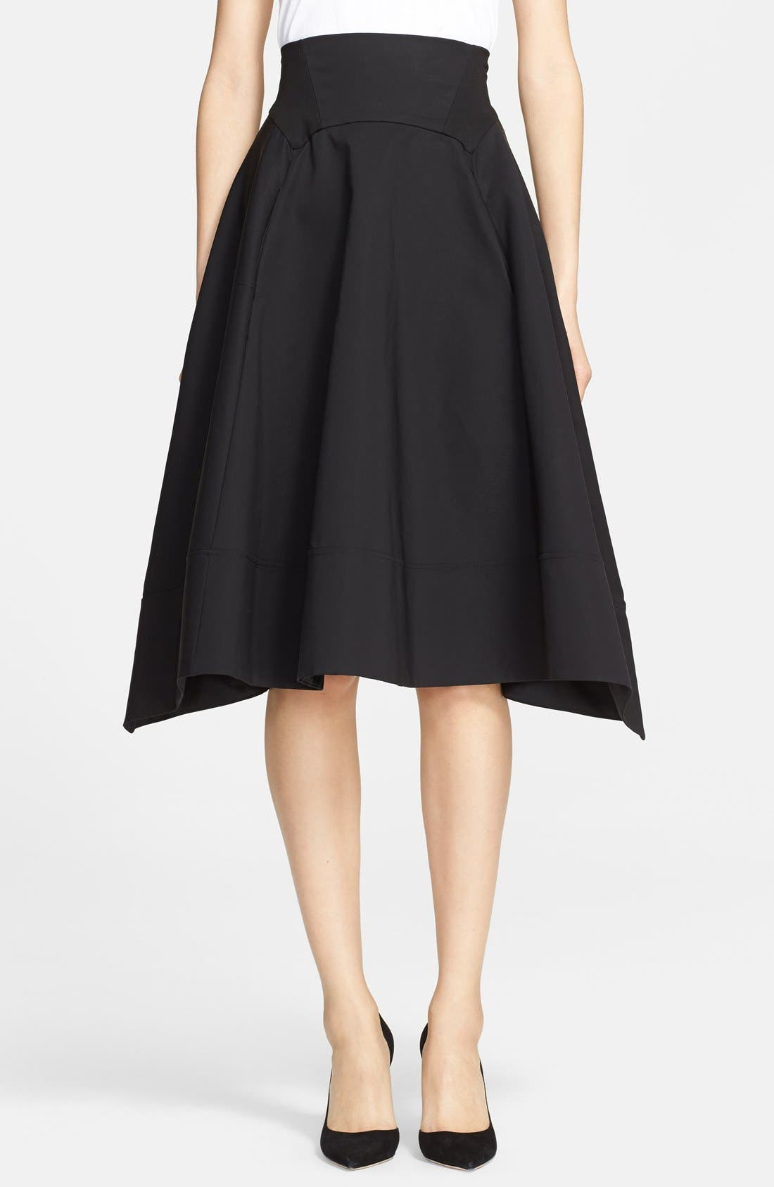Donna Karan Collection Cotton Taffeta Skirt,                             Main thumbnail 1, color,                             001