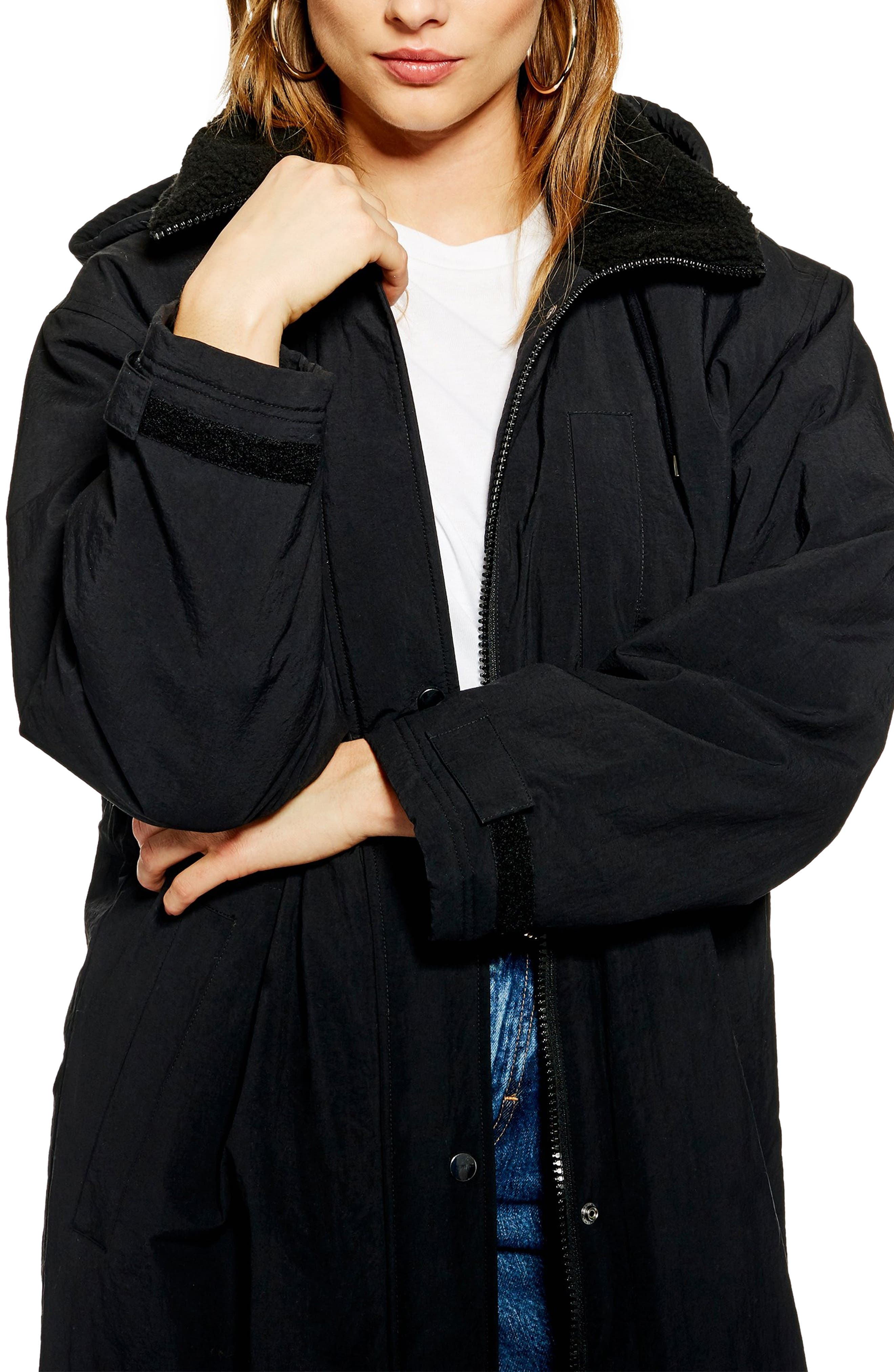 Andy Long Hooded Parka,                             Alternate thumbnail 3, color,                             001