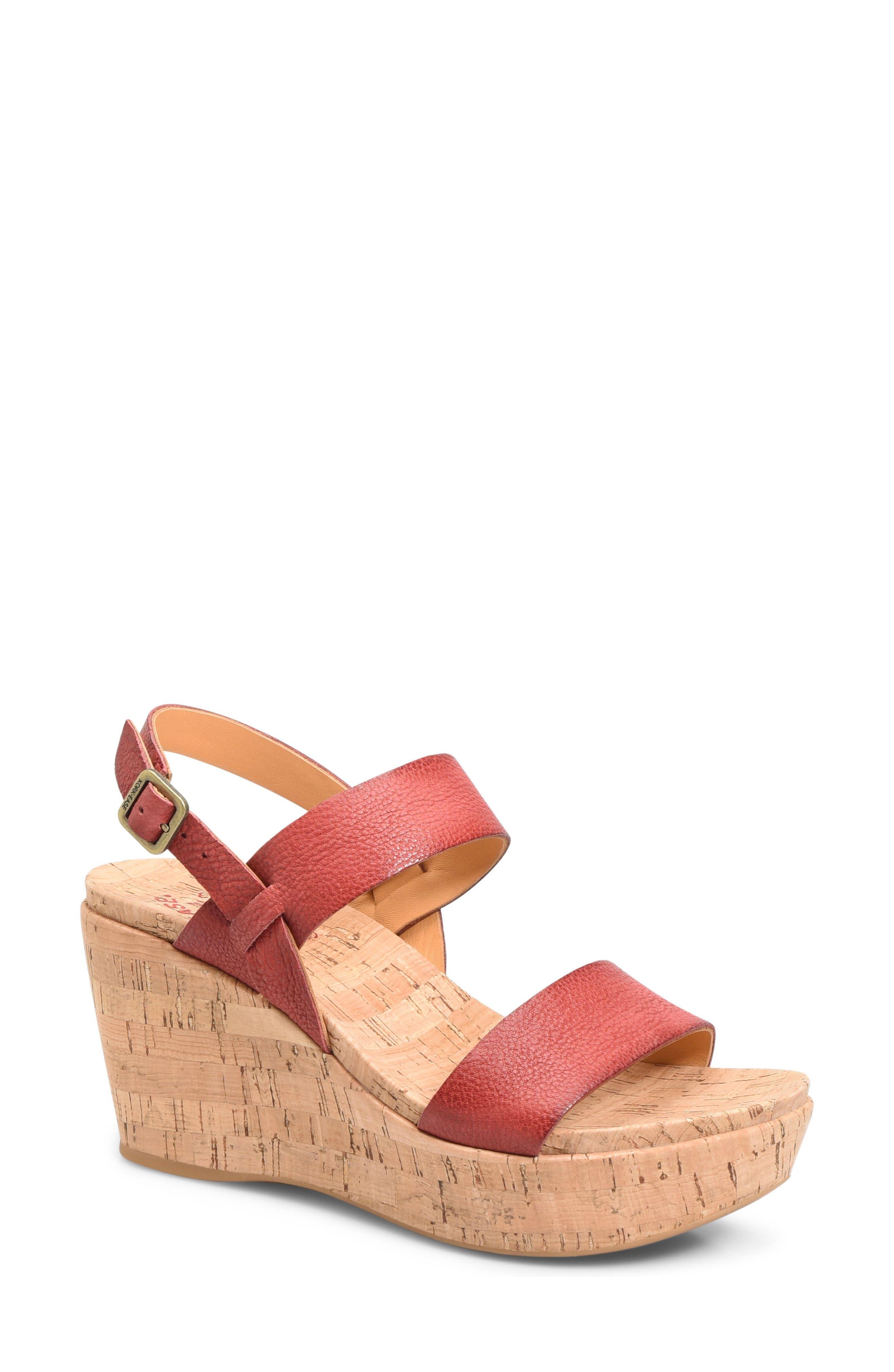 'Austin' Slingback Wedge Sandal,                             Main thumbnail 9, color,