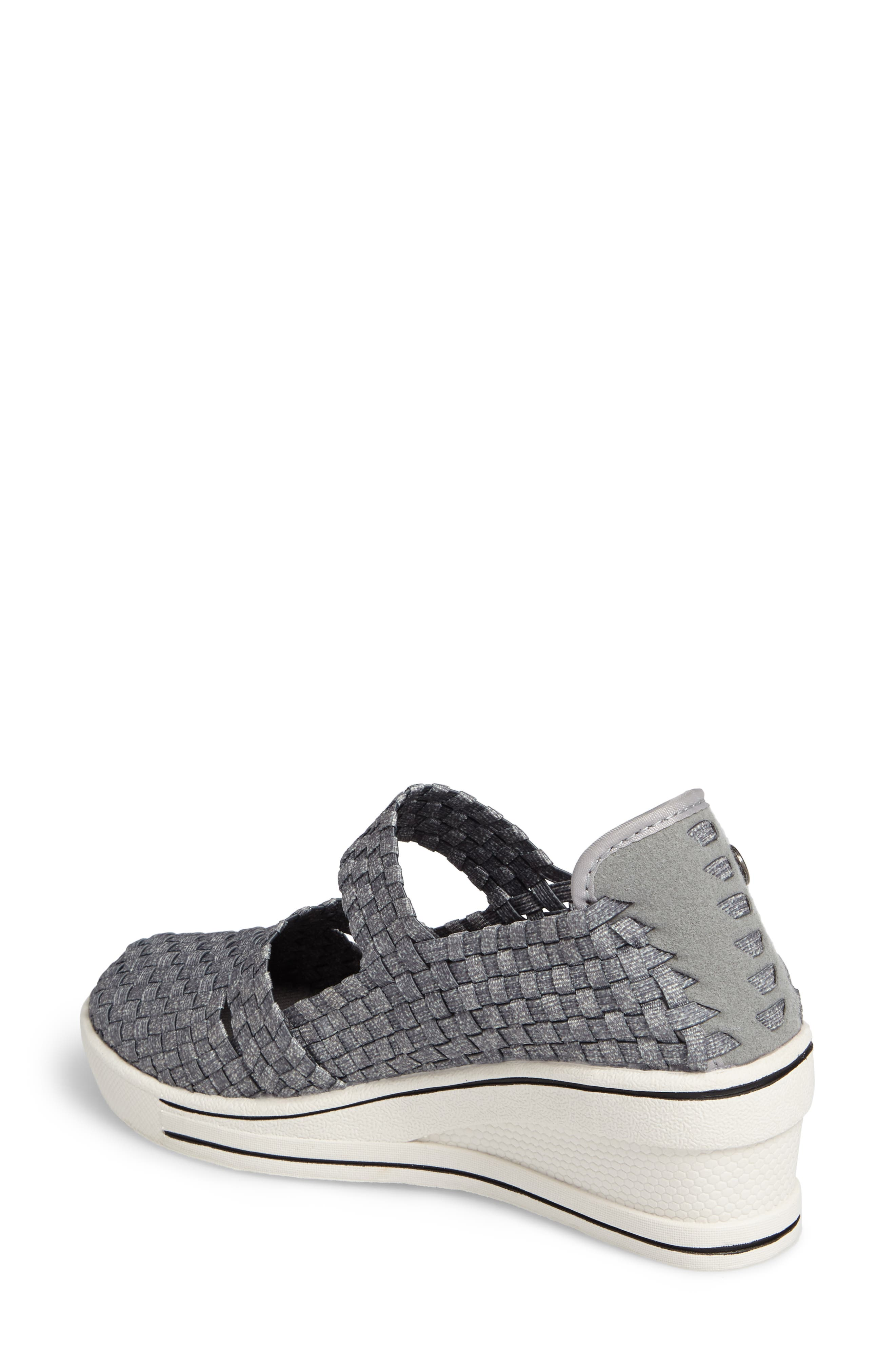 Frontier Woven Mary Jane Wedge,                             Alternate thumbnail 2, color,                             HEATHER GREY FABRIC