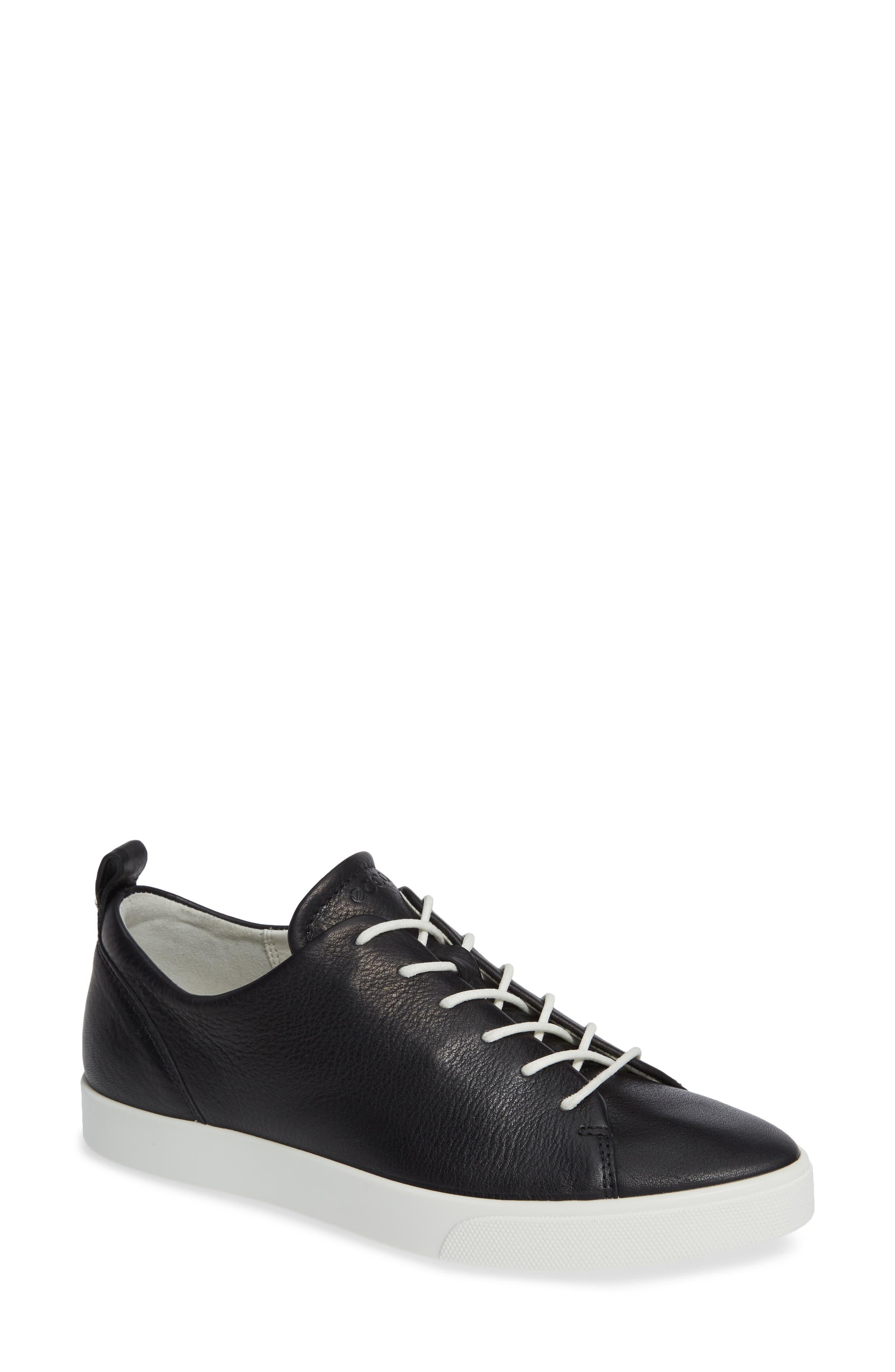 ECCO Gillian Sneaker, Main, color, BLACK/ BLACK LEATHER