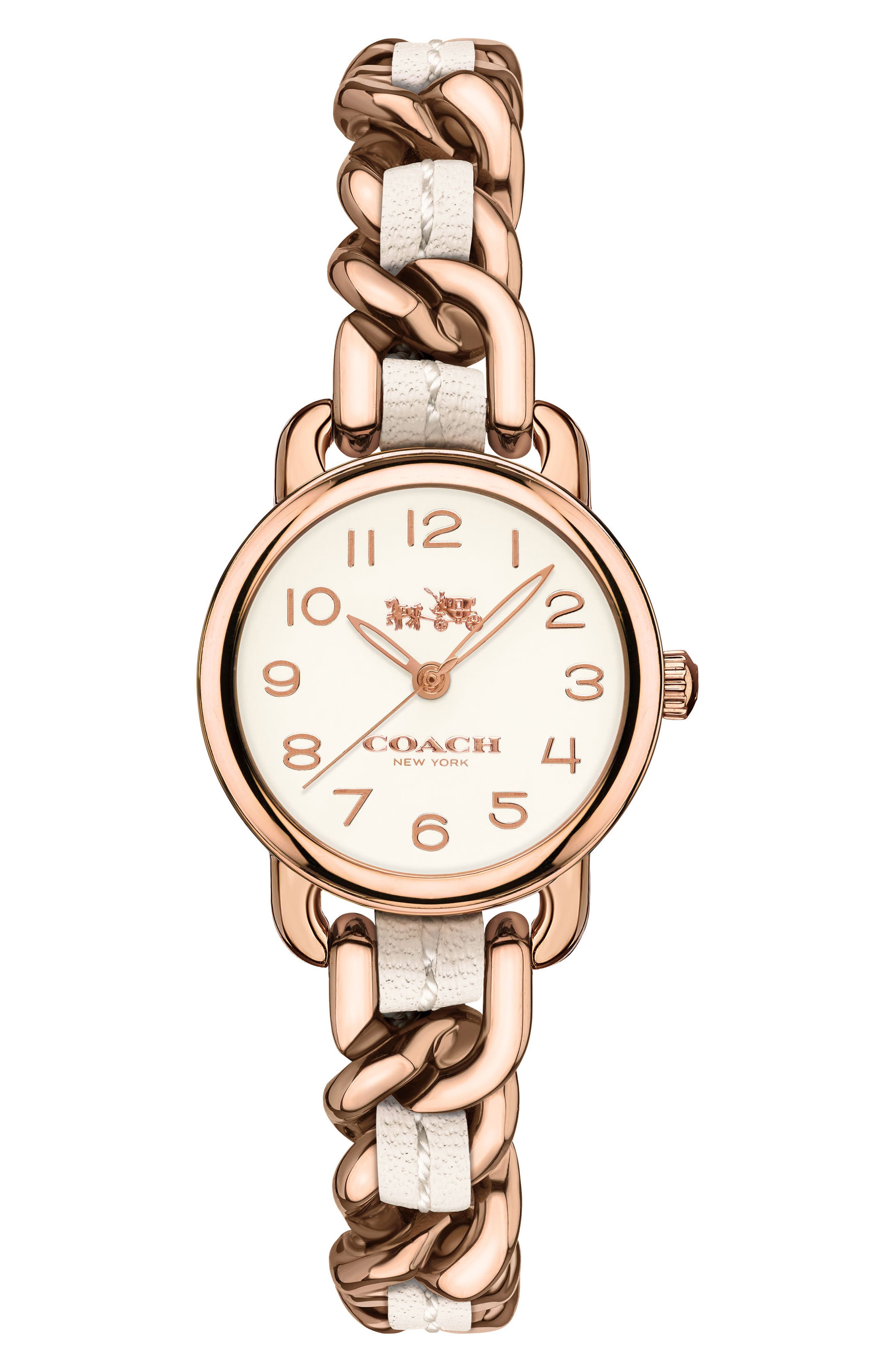 Delancey Leather Chain Watch, 23mm,                             Main thumbnail 3, color,