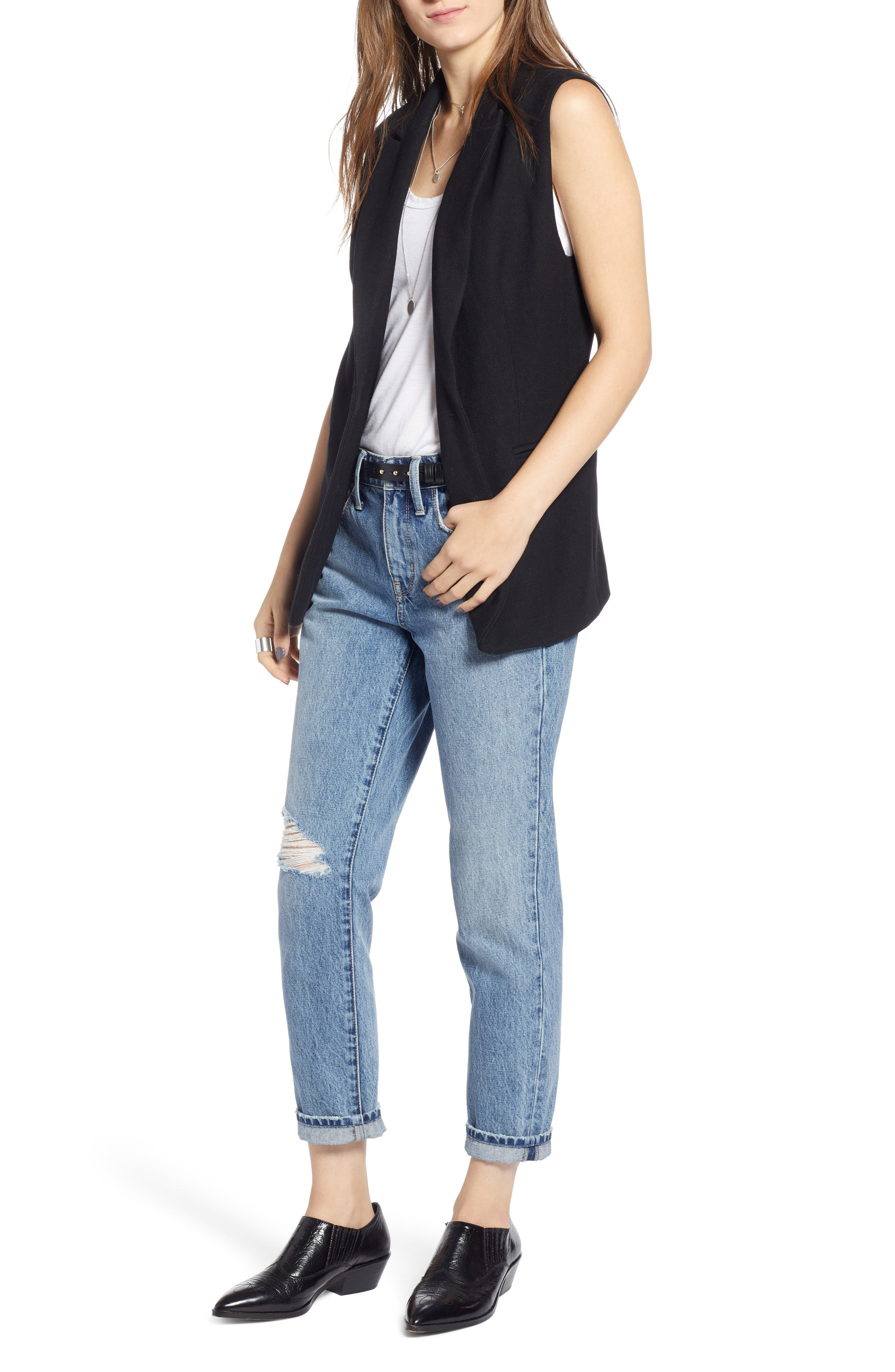 Menswear Vest,                             Main thumbnail 1, color,                             BLACK