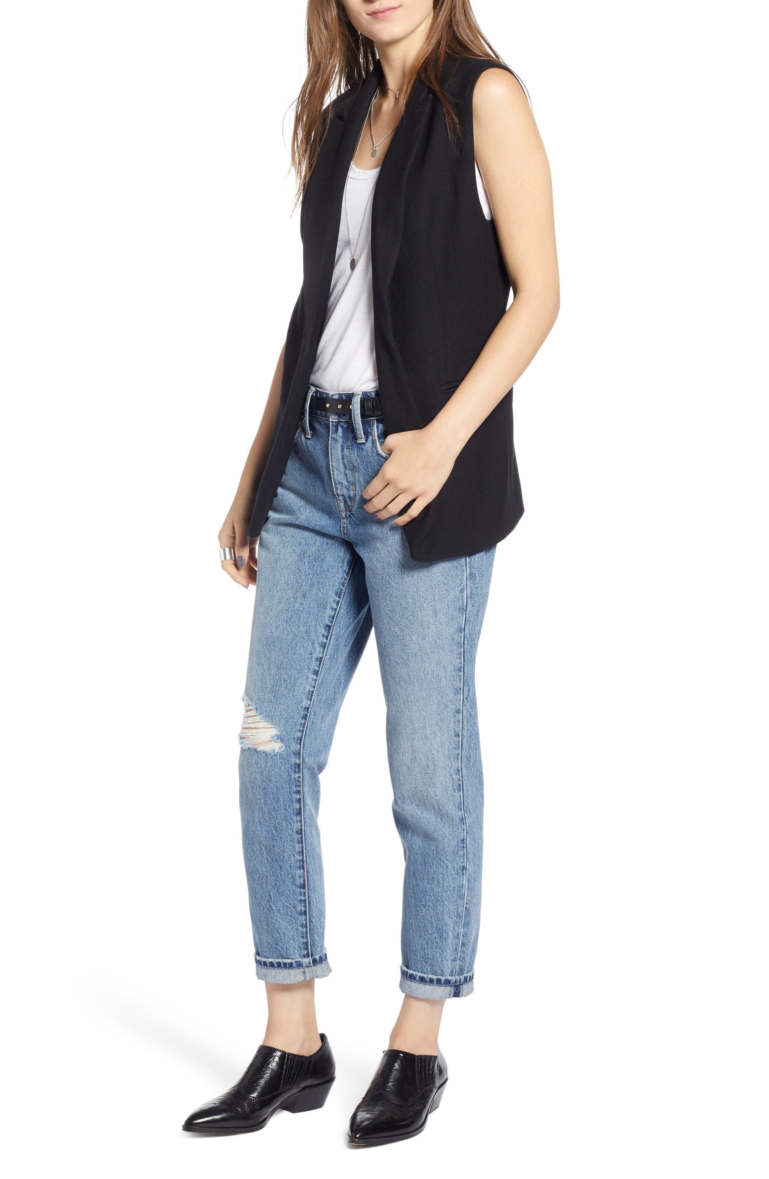 Menswear Vest,                         Main,                         color, BLACK