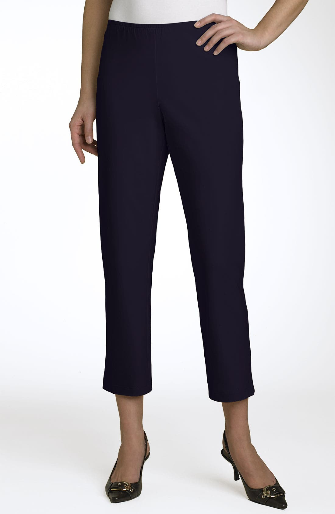 Organic Stretch Cotton Twill Ankle Pants,                             Main thumbnail 22, color,