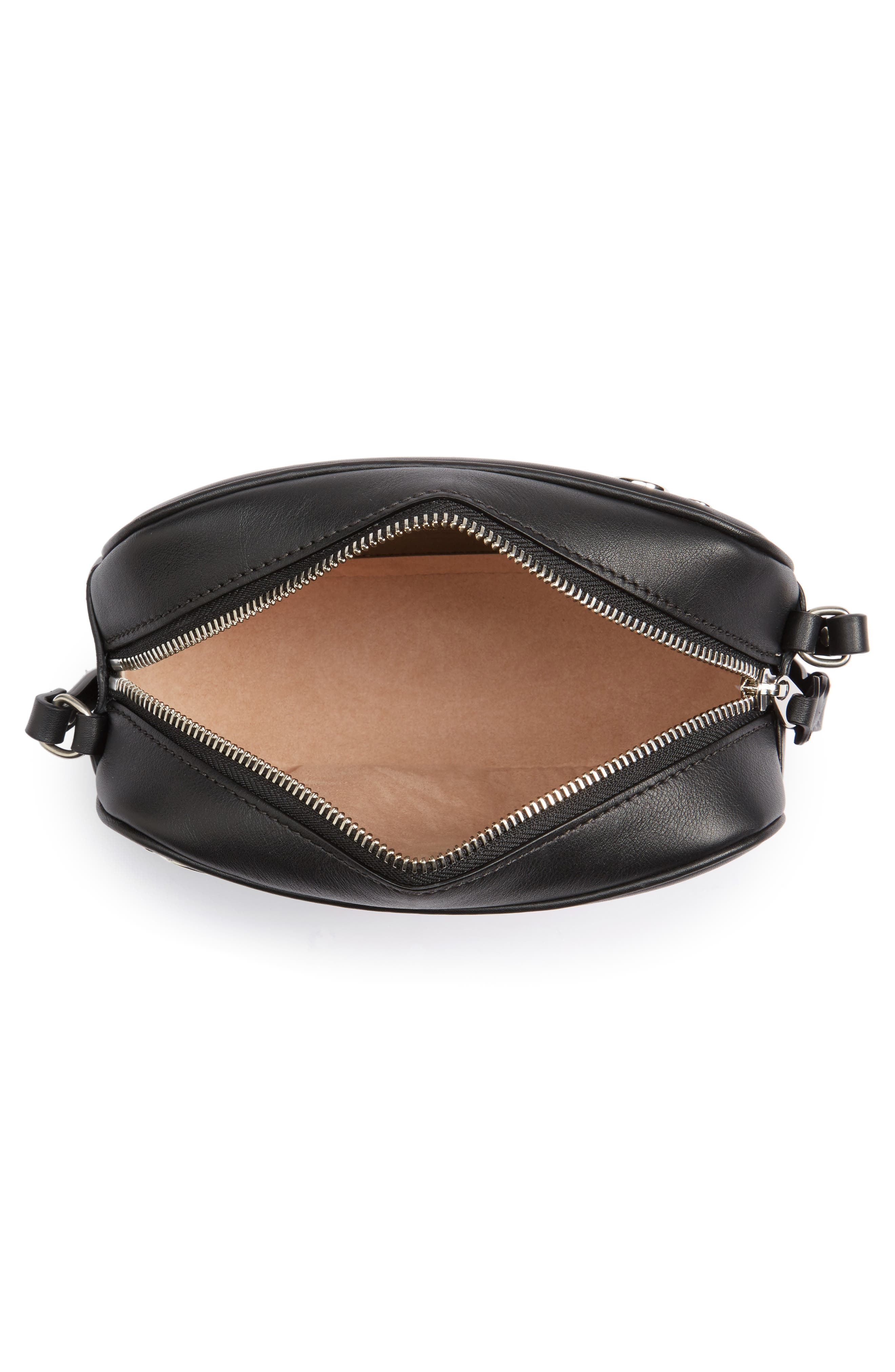 Small Leather Camera Bag,                             Alternate thumbnail 4, color,                             001