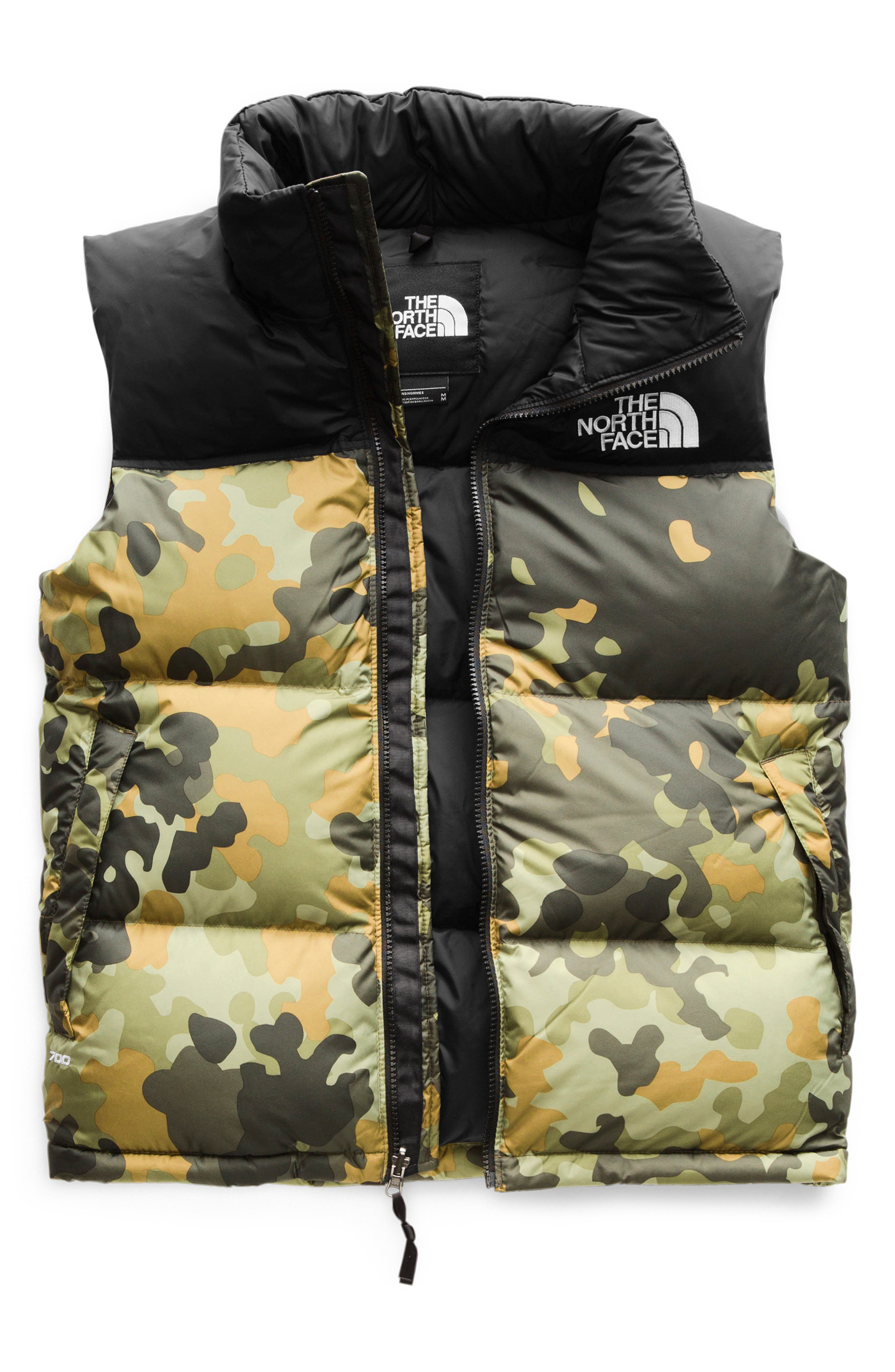 1996 Retro Nuptse 700-Fill-Power Down Puffer Vest,                             Alternate thumbnail 3, color,                             NEW TAUPE GREEN MACROFLECK