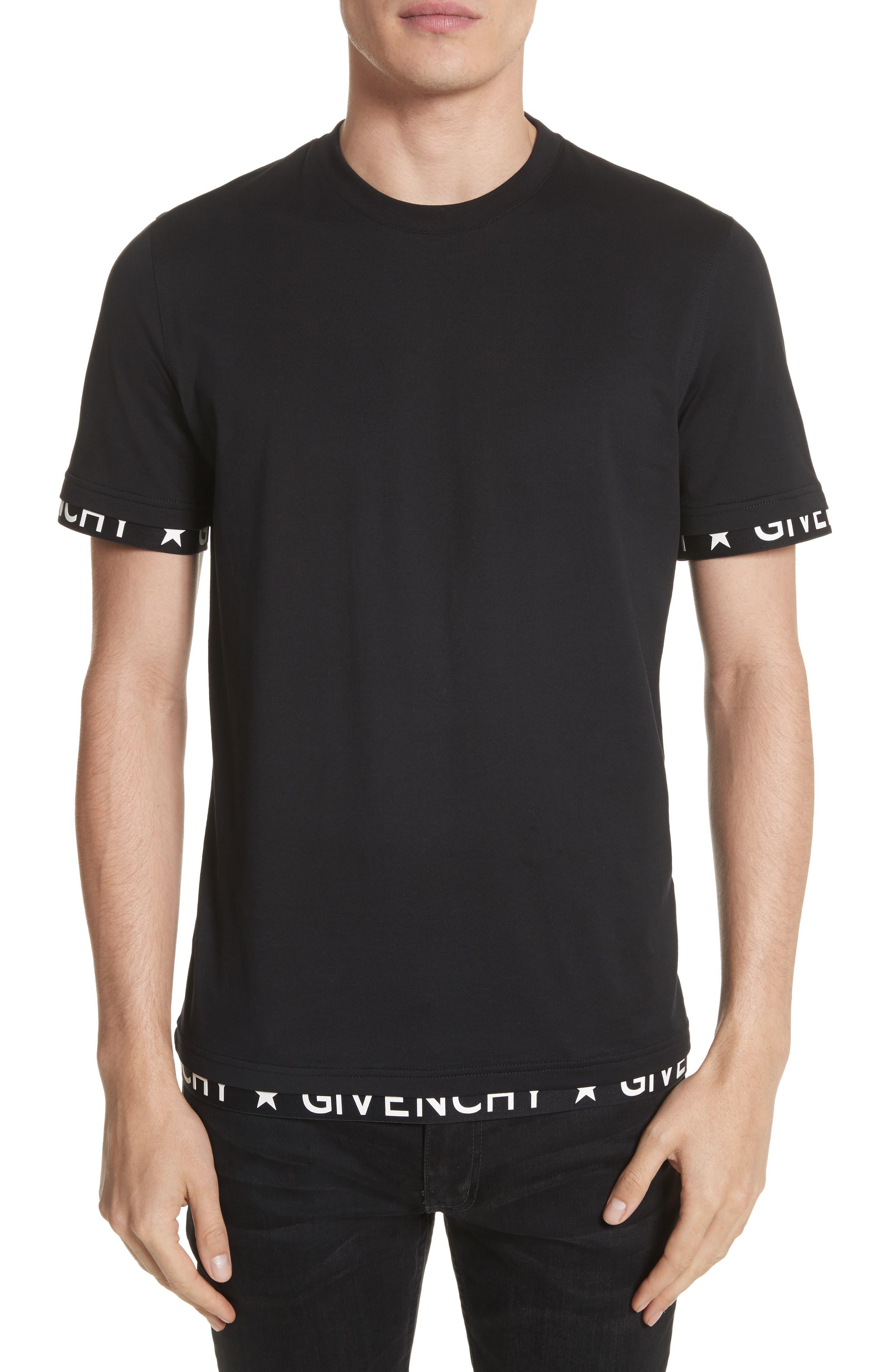 Half Band Crewneck T-Shirt,                             Main thumbnail 1, color,                             001