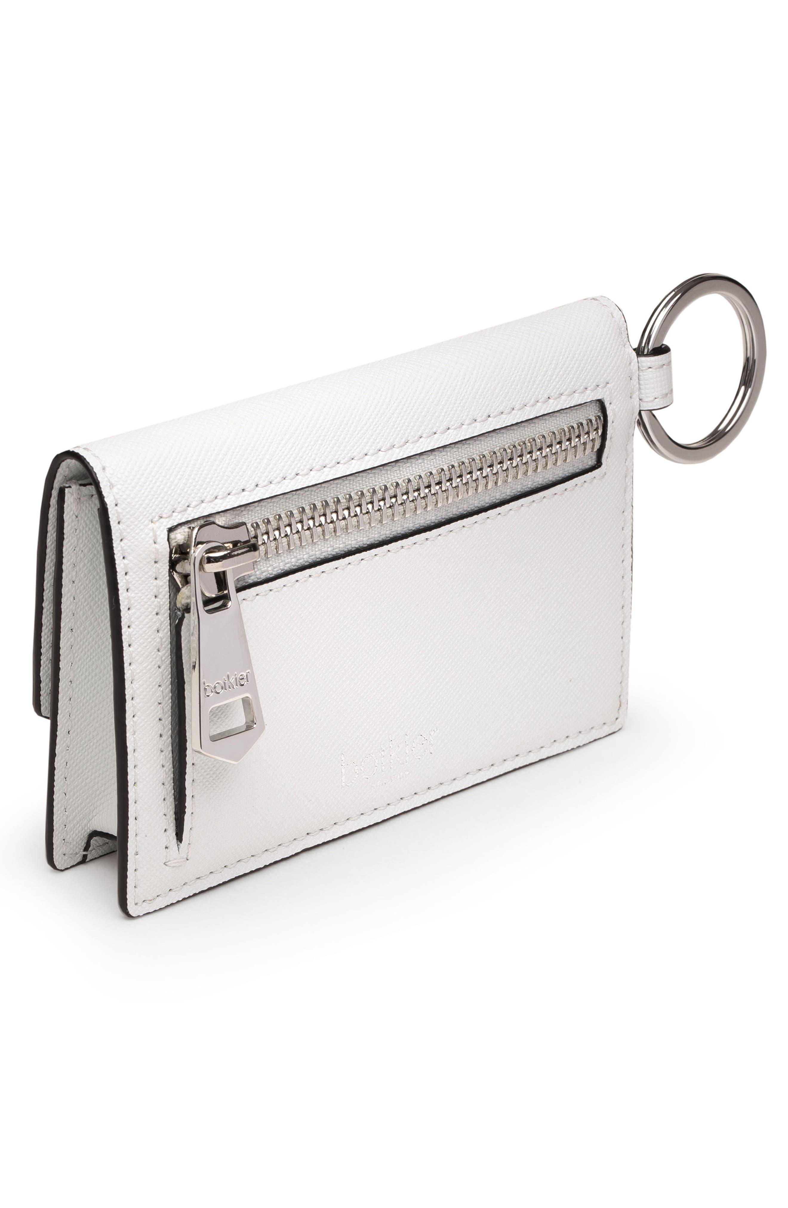 Cobble Hill Saffiano Leather Card Case,                             Alternate thumbnail 3, color,                             CHALK
