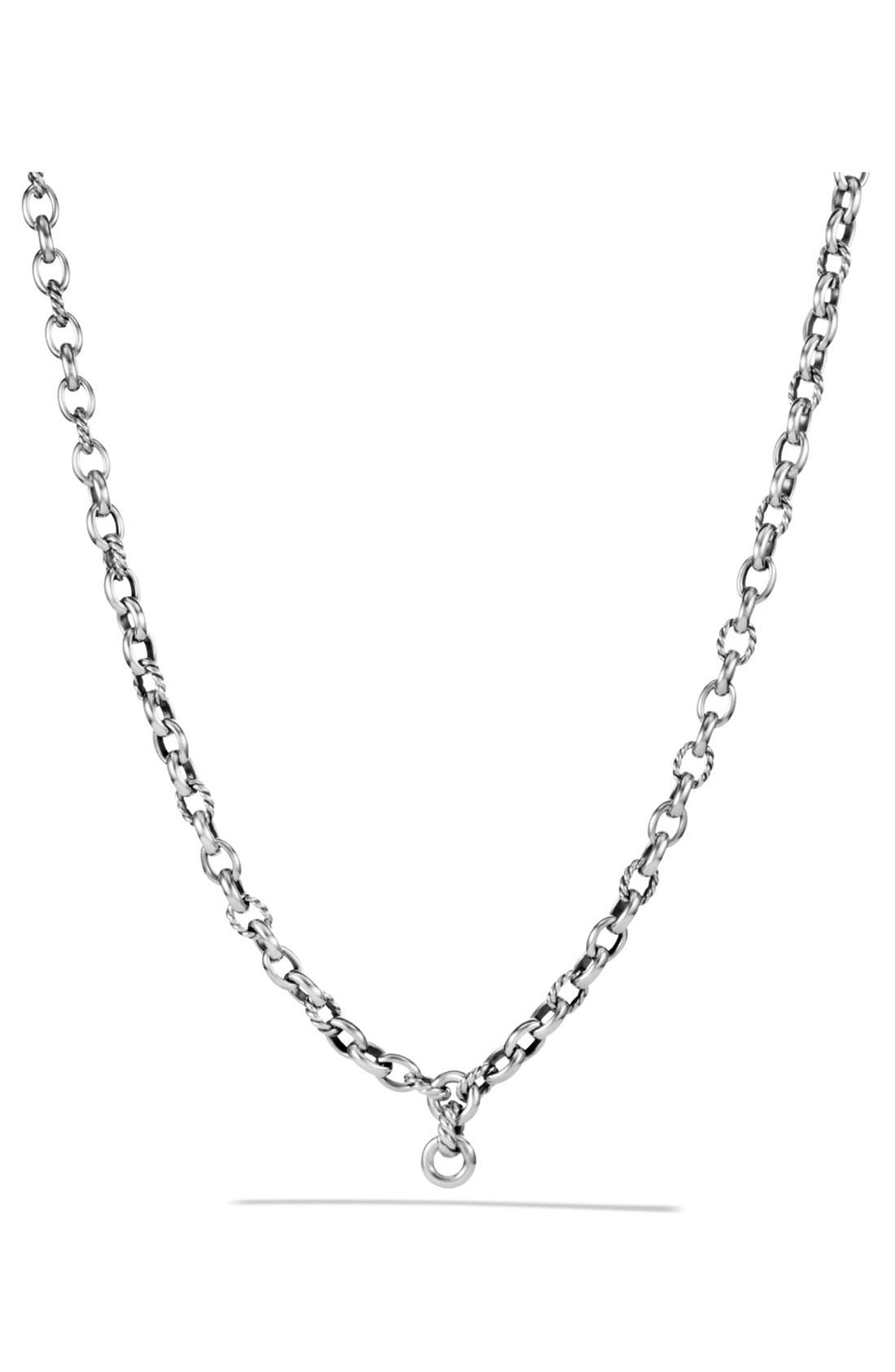 'Chain' Oval Link Chain Necklace,                         Main,                         color, SILVER